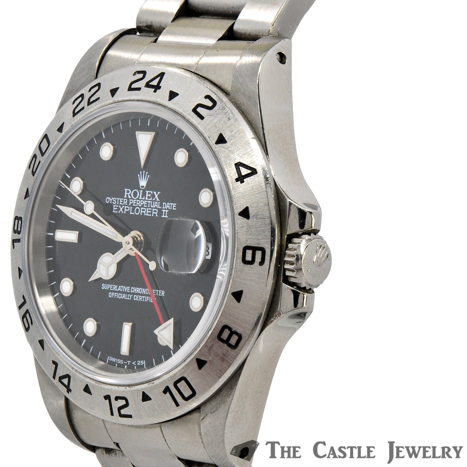 Men's Stainless Steel Rolex Explorer II with Black Dial & Oyster Bracelet-3