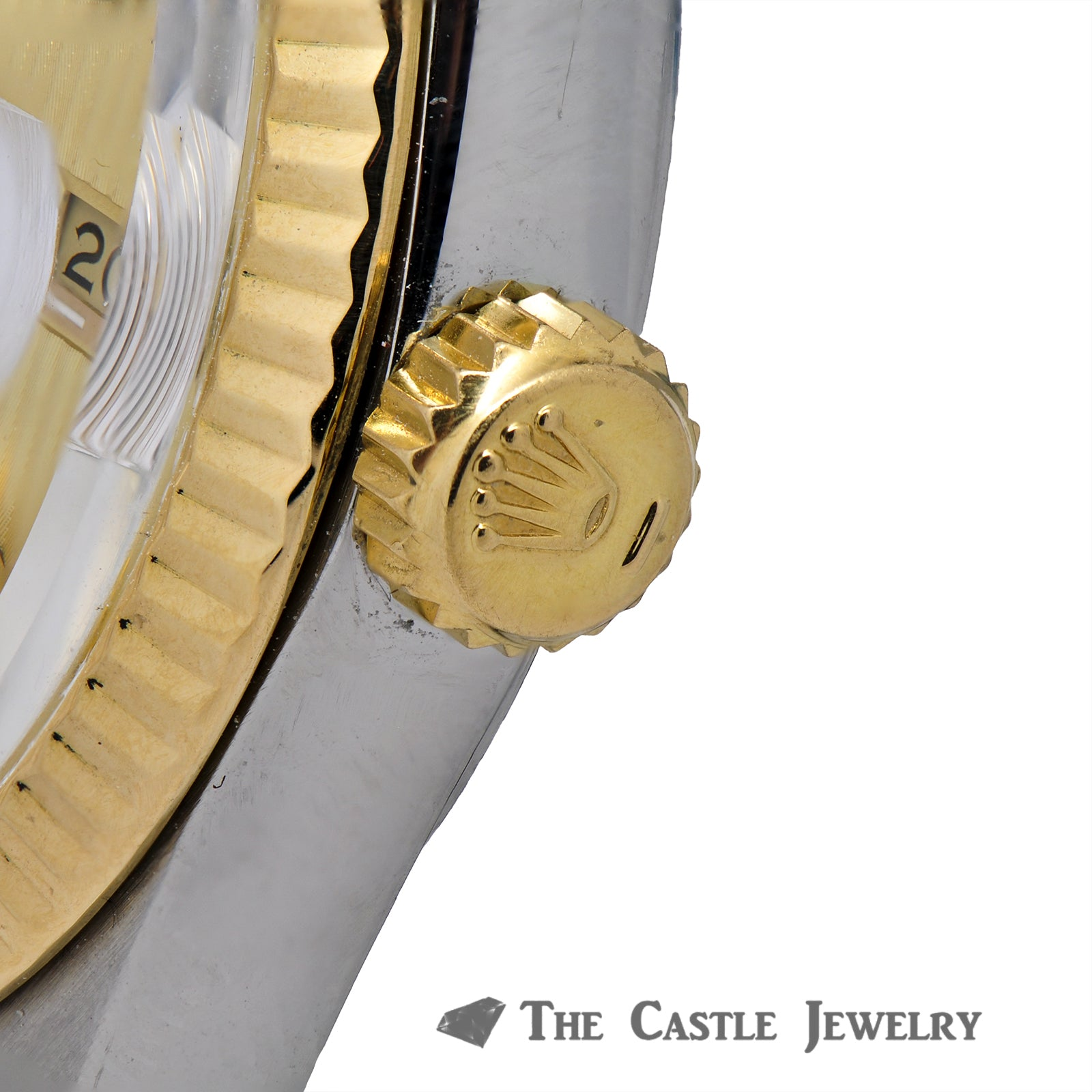 Rolex Datejust 36mm 18K & Steel with Gold Tapestry Dial 16013-4