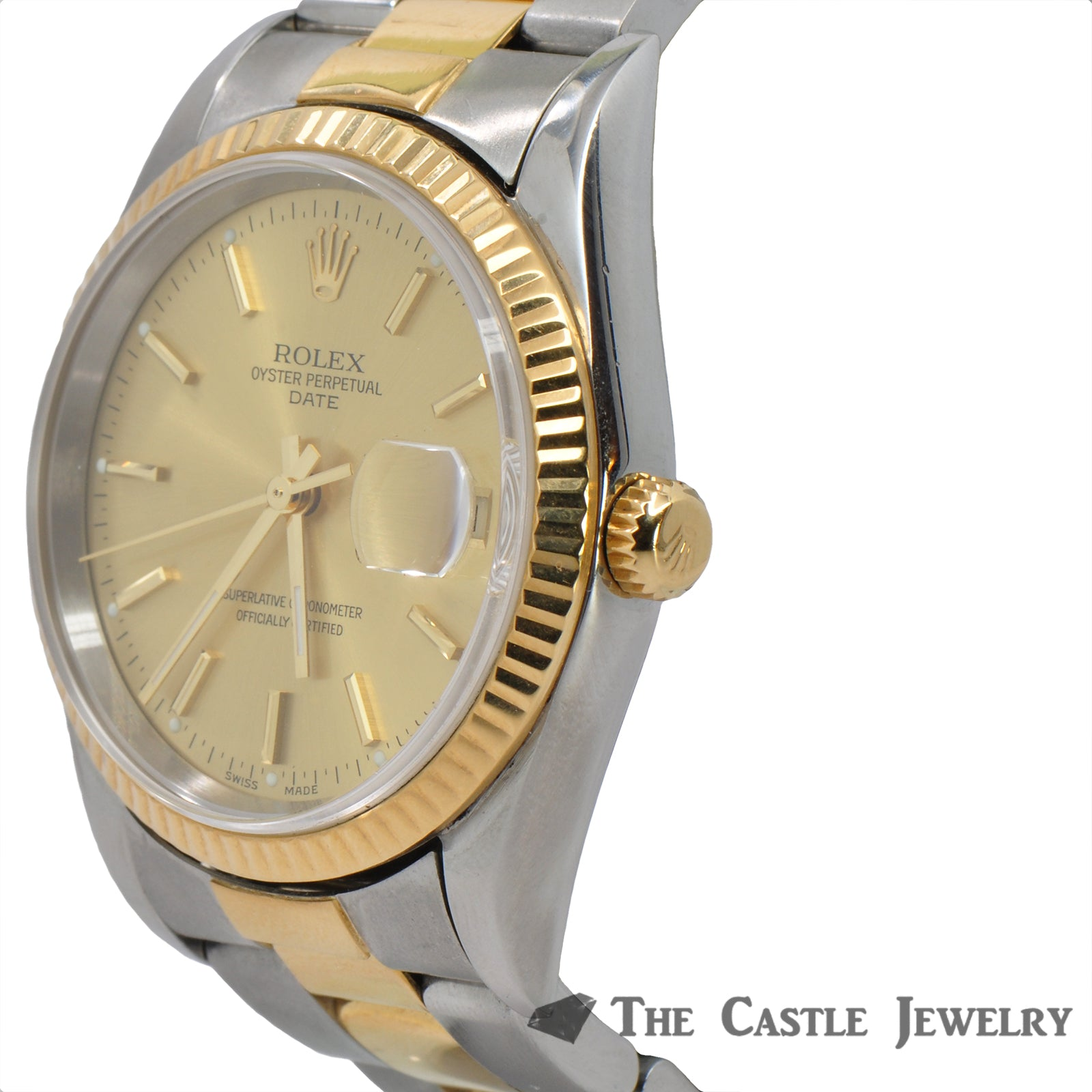 Rolex Date Model 15203 | 18K & Steel Oyster Bracelet | 2 Year Warranty-3