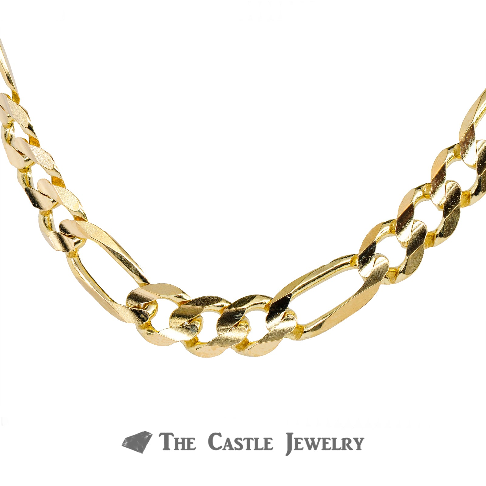 20 Inch Figaro Chain in 10K Yellow Gold