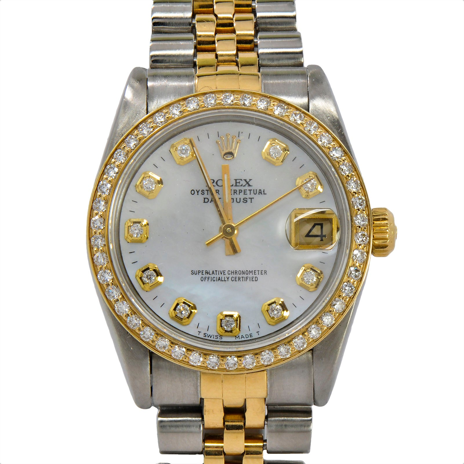 Midsized 31mm Rolex Datejust 18K/SS ref. 68273-3
