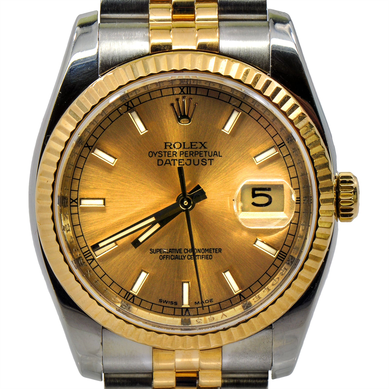 Rolex Datejust 116233 With Champagne Dial and Fluted Bezel-2
