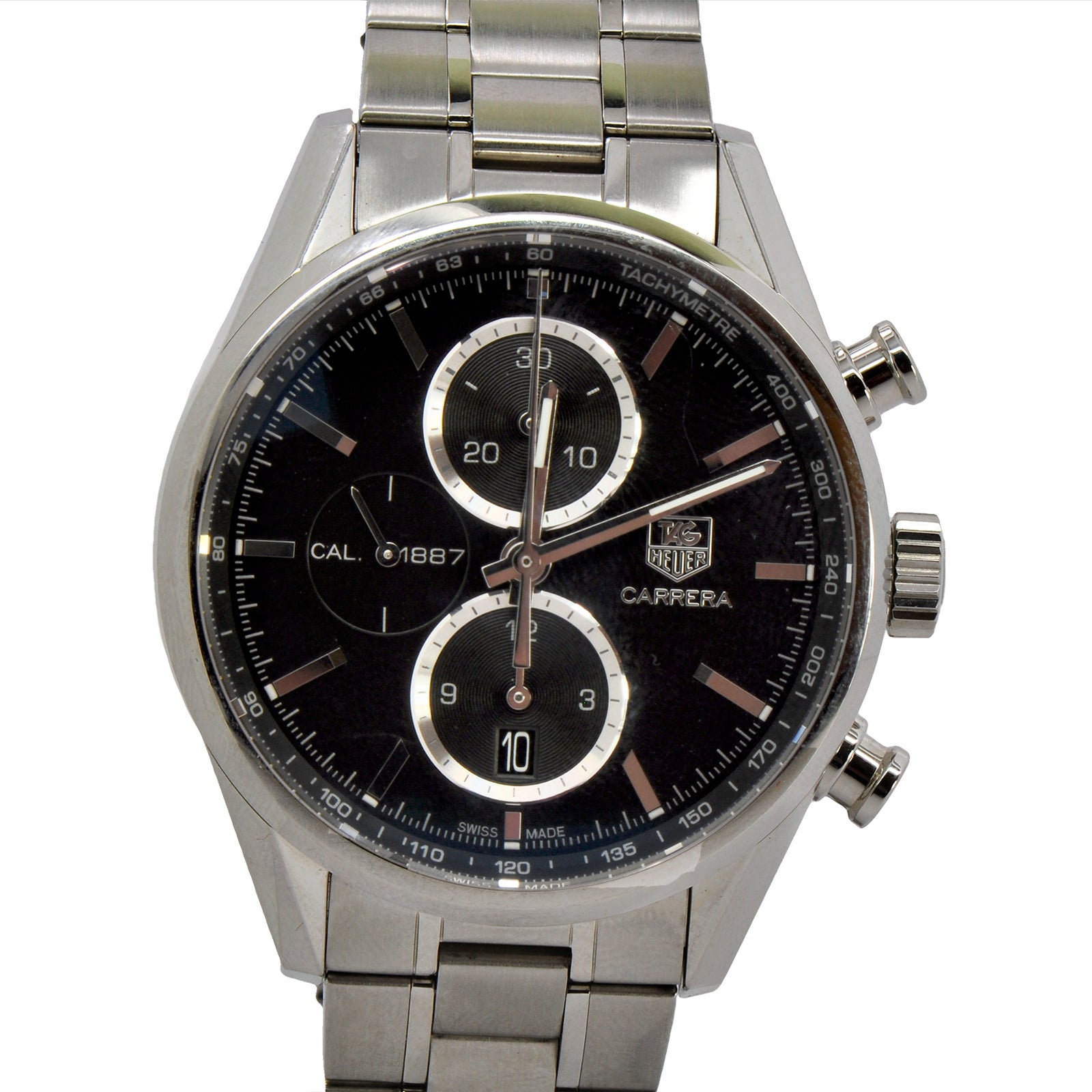 Tag Heuer Carrera Cal. 1187 with Blue Dial & Reflector Ring-3
