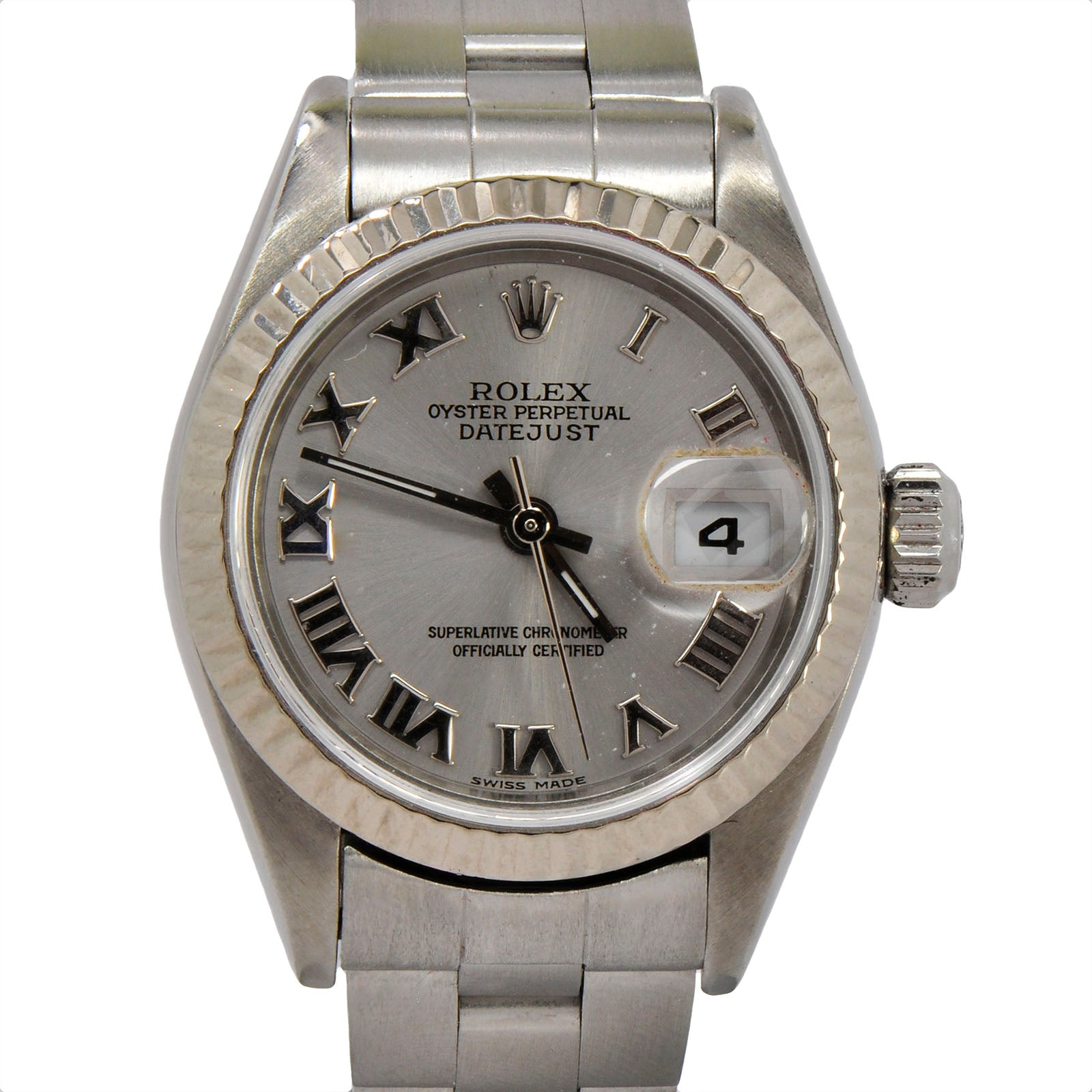 Rolex Datejust ref. 79174 Grey Roman Numeral Dial & Stainless Oyster Bracelet-4