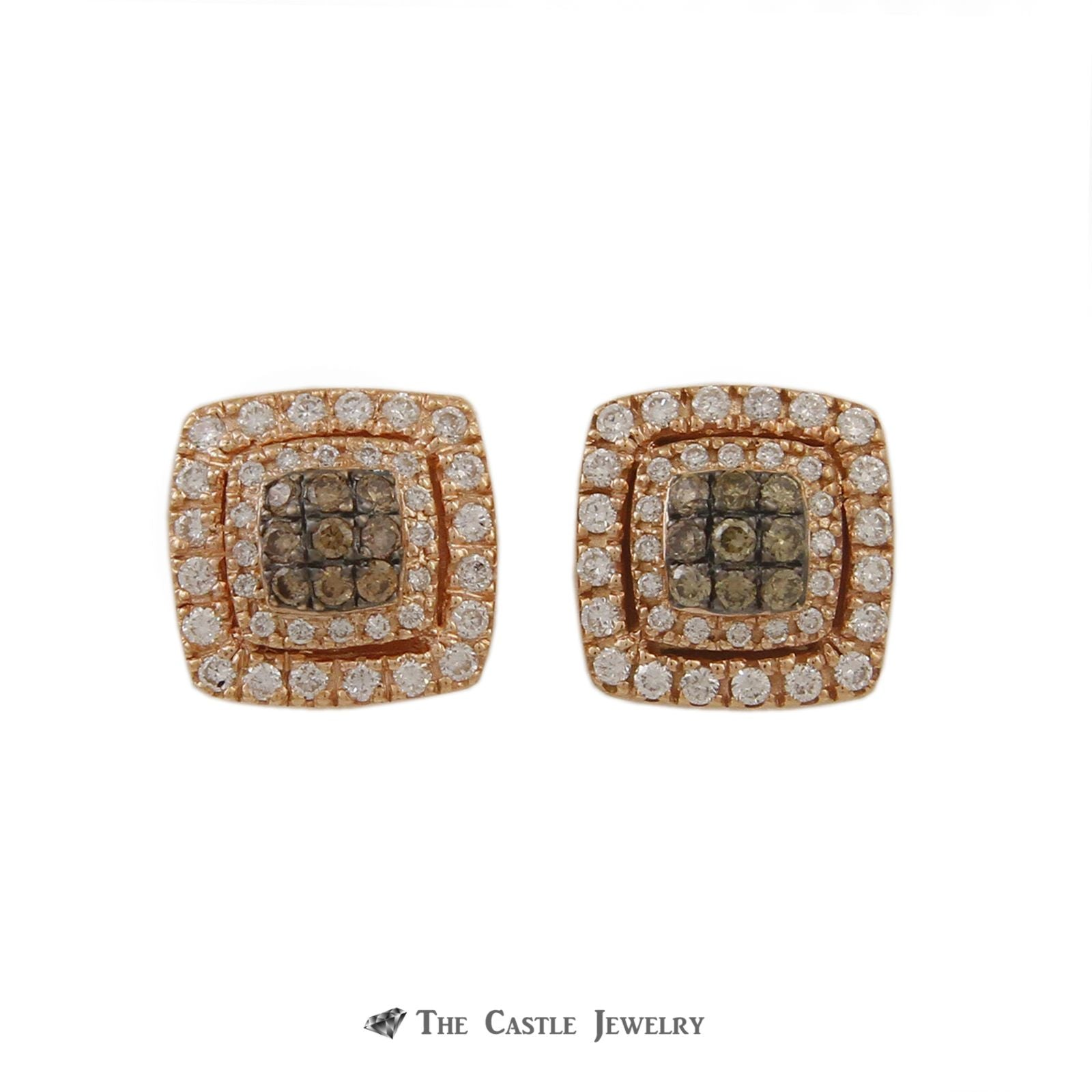 Le Vian Square Shaped Chocolate Diamond Earrings