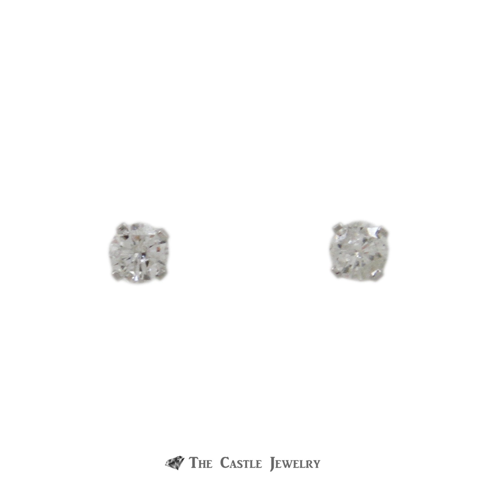 Round Brilliant Cut .25cttw Diamond Stud Earrings Crafted in 14k White Gold