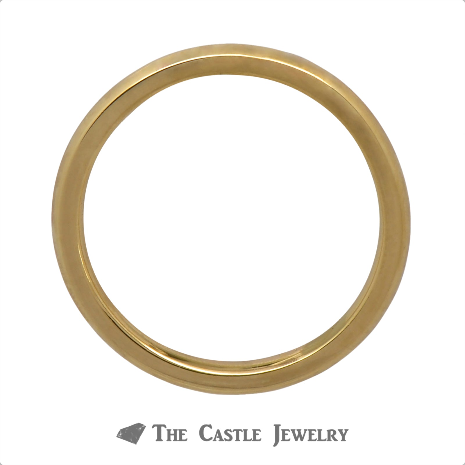 Polished 2.4mm Wedding Band Crafted in 18k Yellow Gold-1