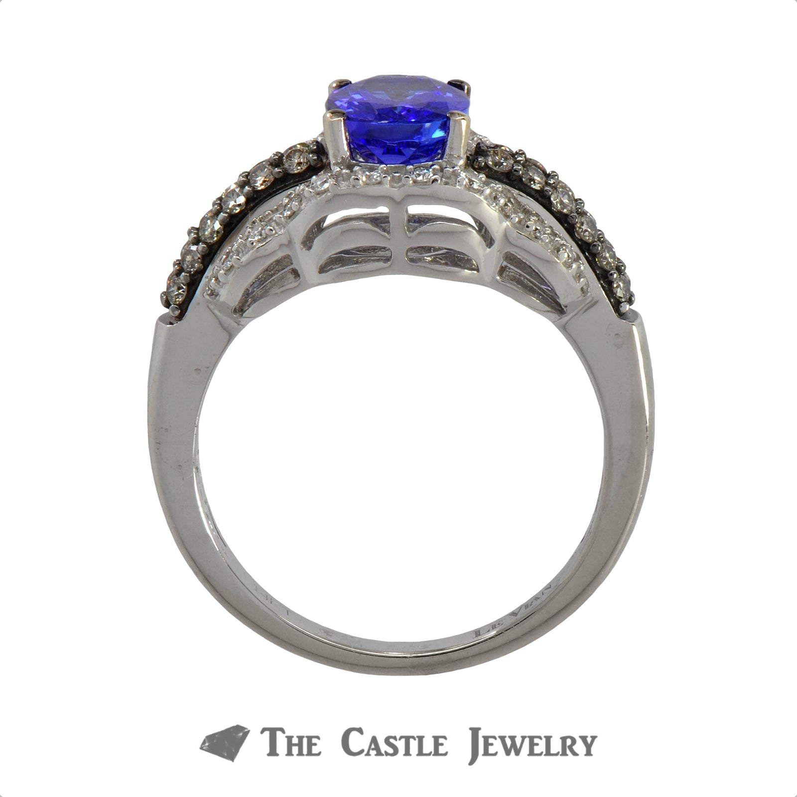 LeVian Tanzanite and Diamond Ring in 10K White Gold-1