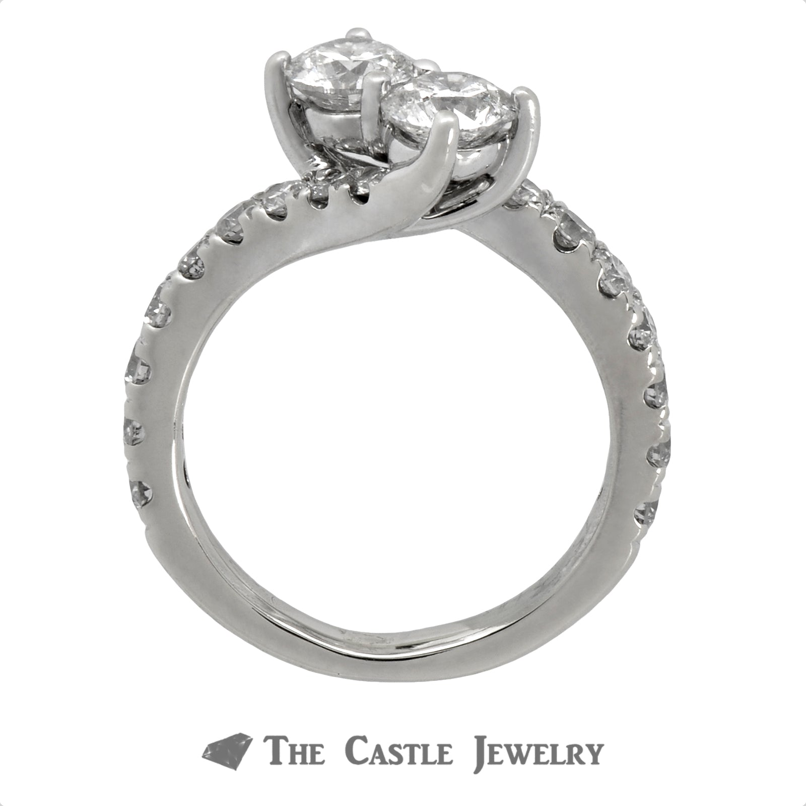 2cttw Ever Us Designer Engagement Ring in 14k White Gold Bypass Setting-1