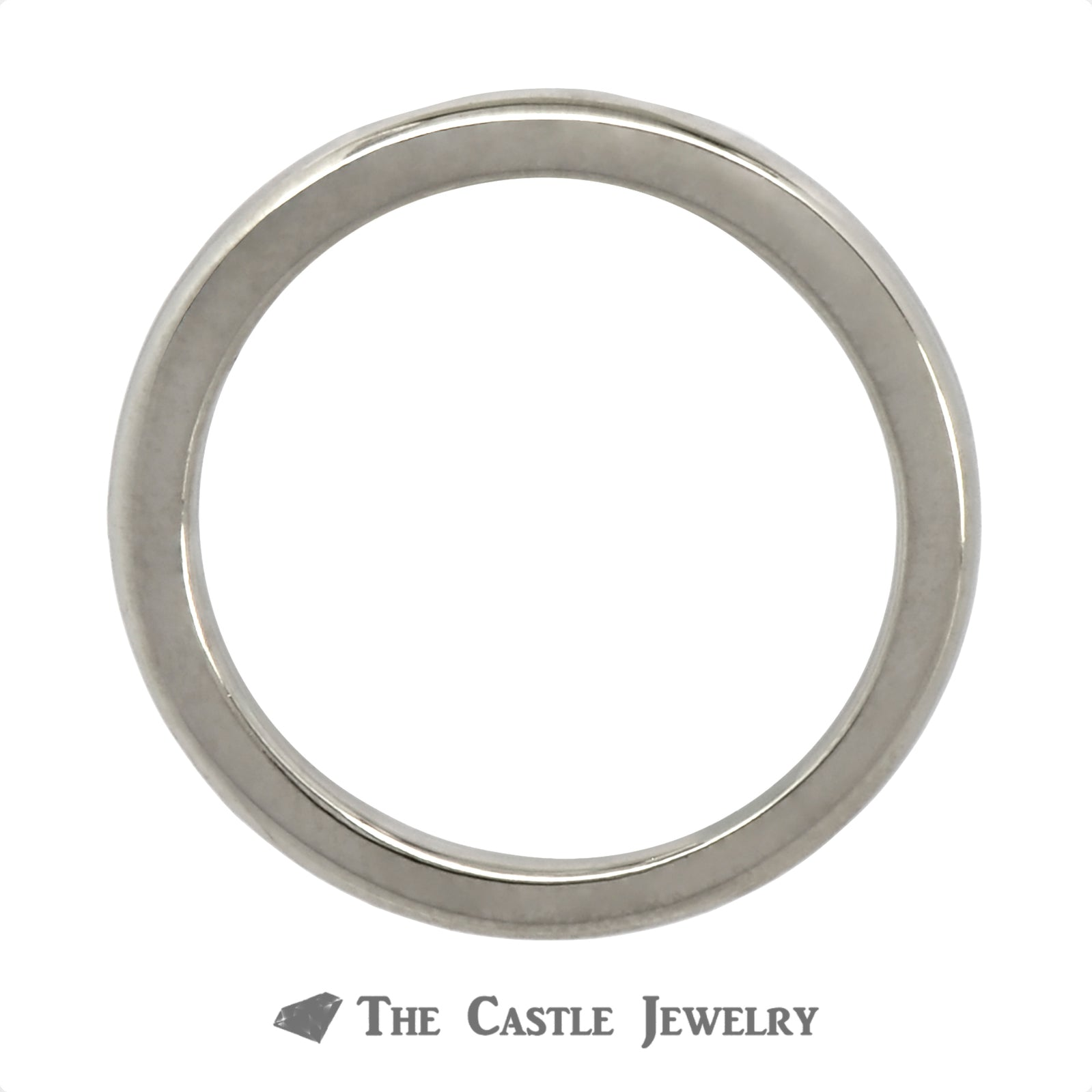 Polished 2.25mm Wedding Band Crafted in 14k White Gold-1
