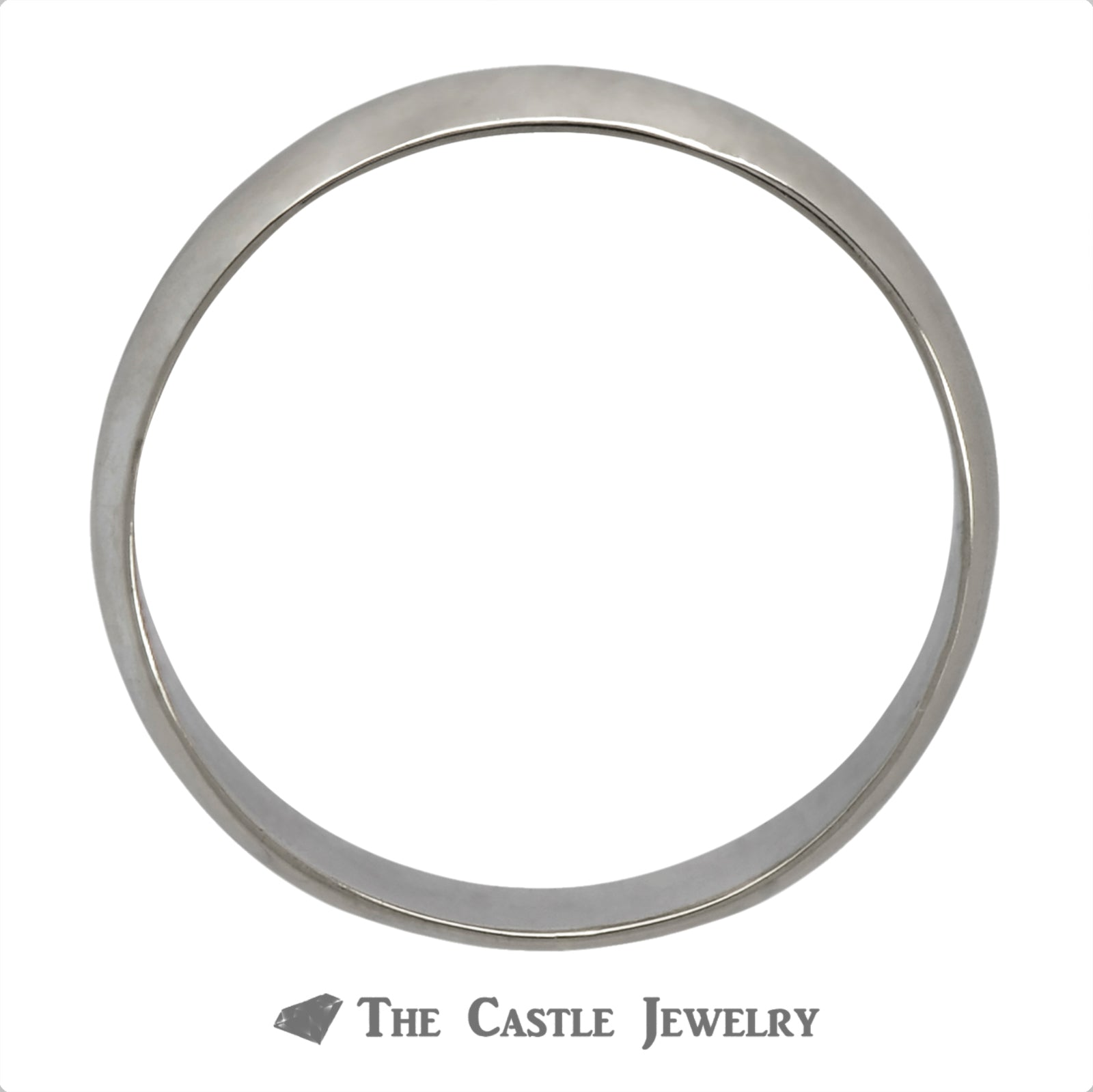 14k White Gold 4mm Polished Wedding Band