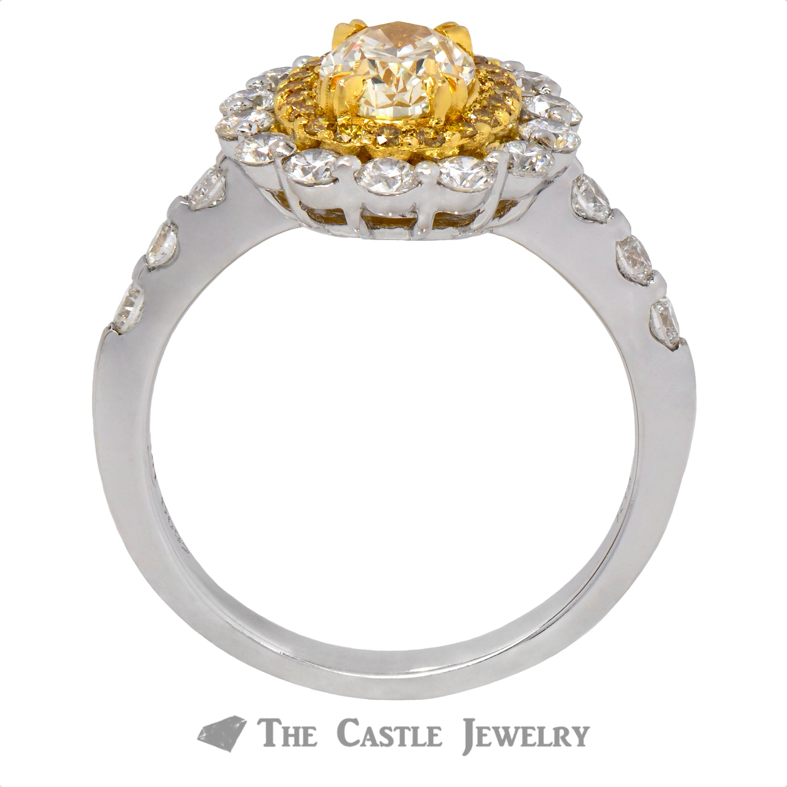 Unique Oval Fancy Yellow Diamond Ring-1