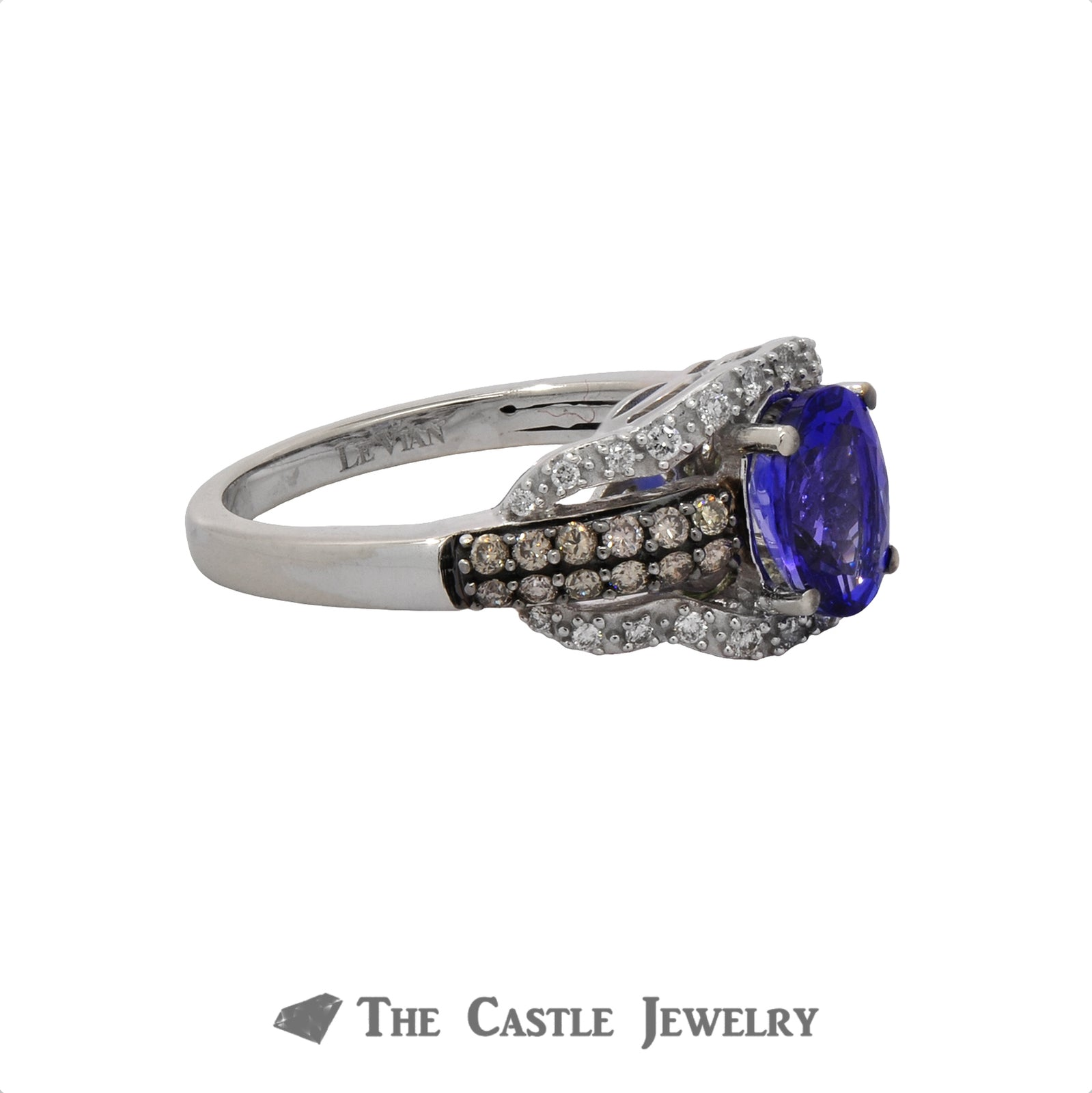 LeVian Tanzanite and Diamond Ring in 10K White Gold-3