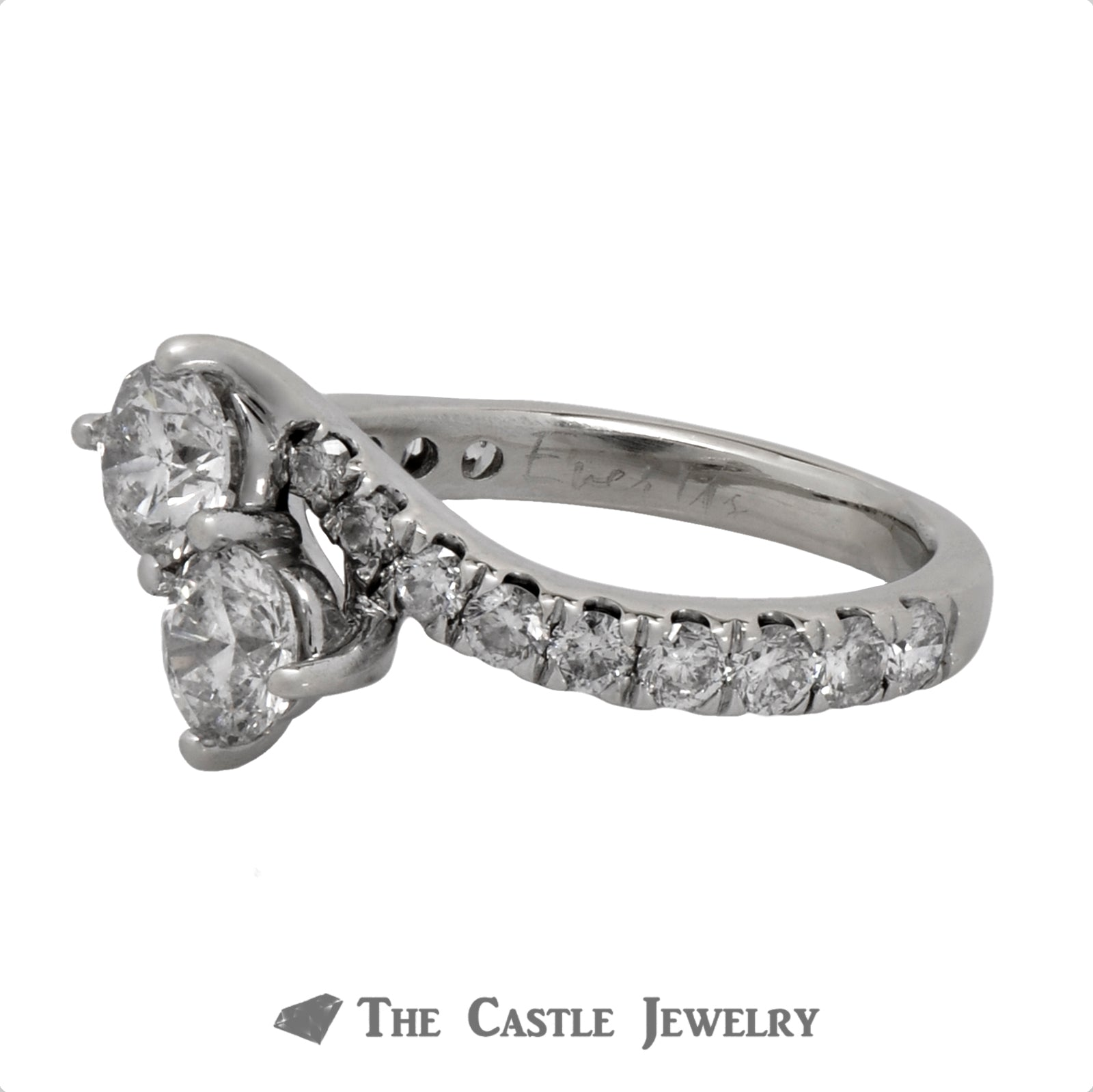 2cttw Ever Us Designer Engagement Ring in 14k White Gold Bypass Setting-3