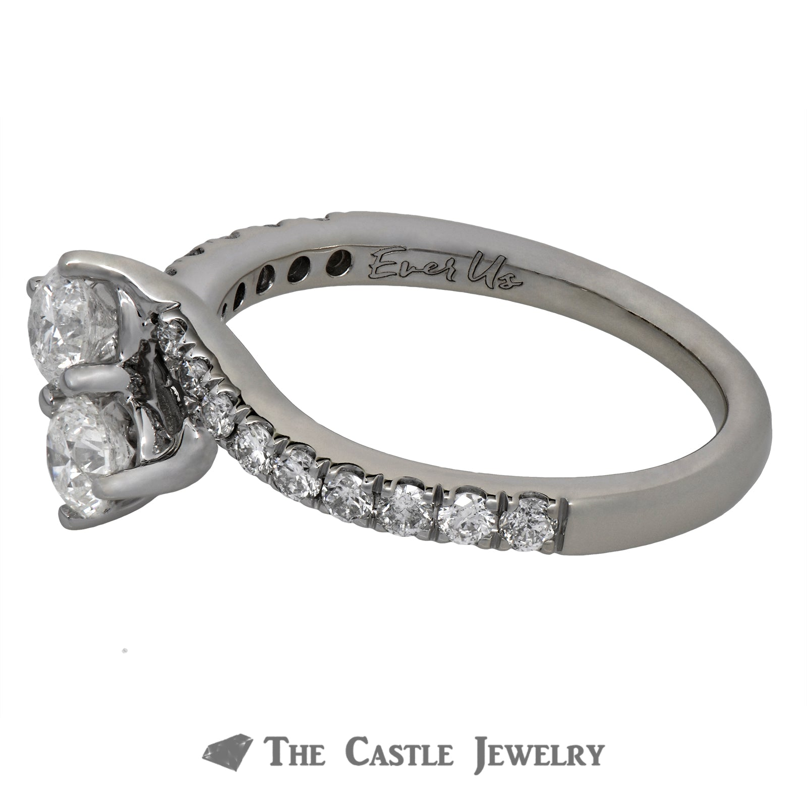 Ever Us Engagement Ring in 14K White Gold