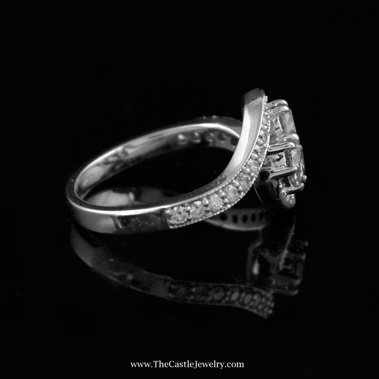 My Love My Best Friend 2 Round 1cttw Diamond Ring in 14K White Gold-2
