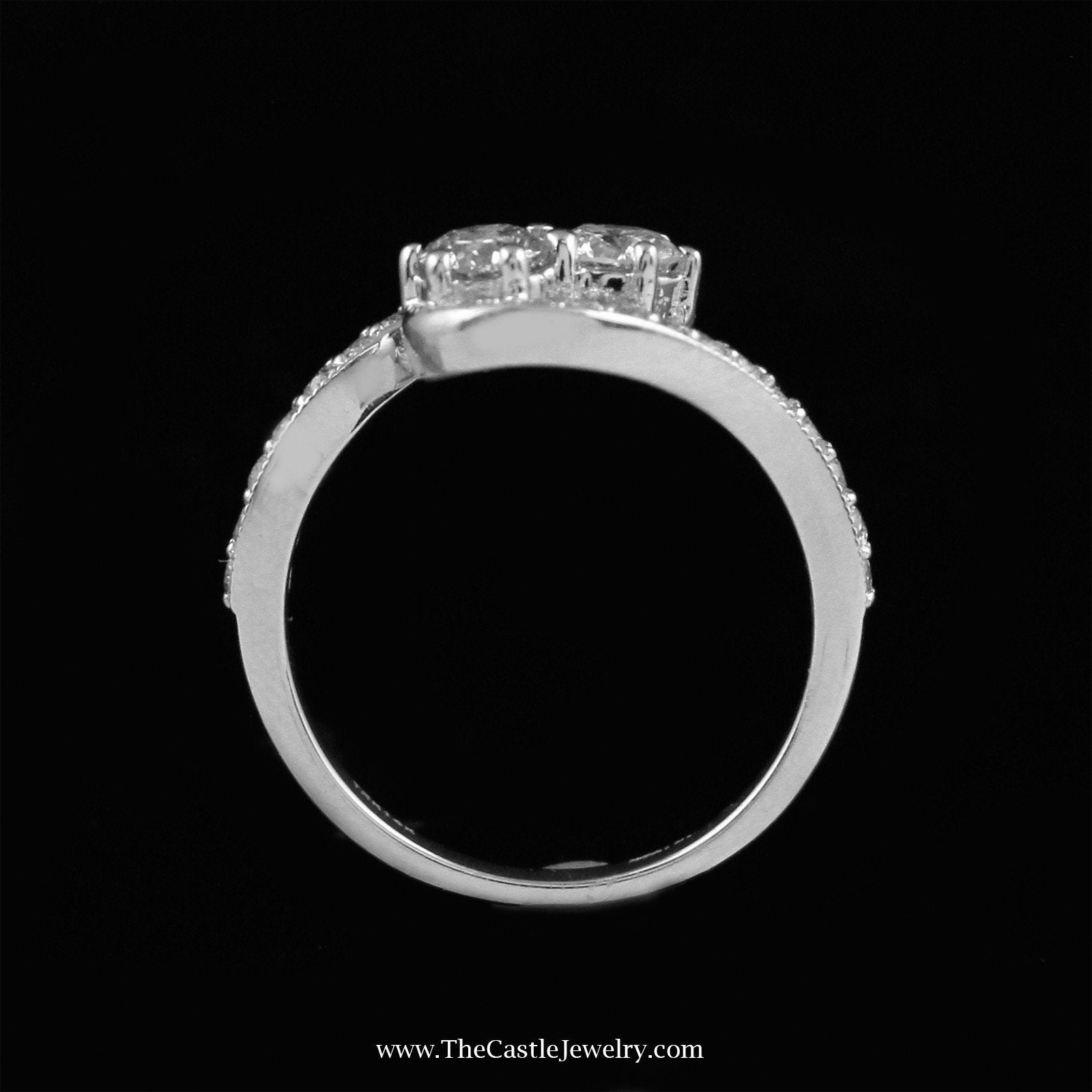 My Love My Best Friend 2 Round 1cttw Diamond Ring in 14K White Gold-1