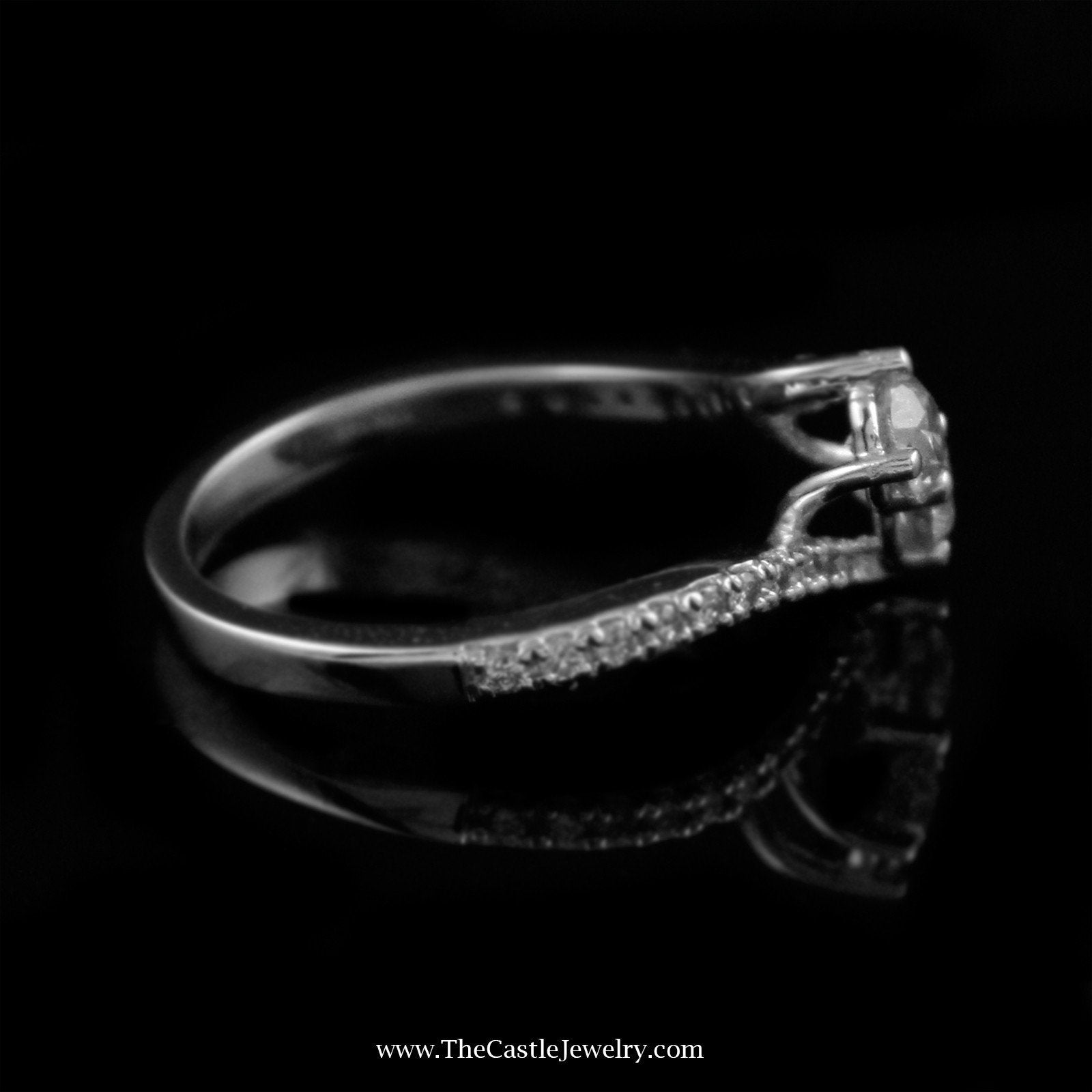 Beautiful 1cttw My True Love & My Best Friend Diamond Ring Crafted in 14K White Gold-2