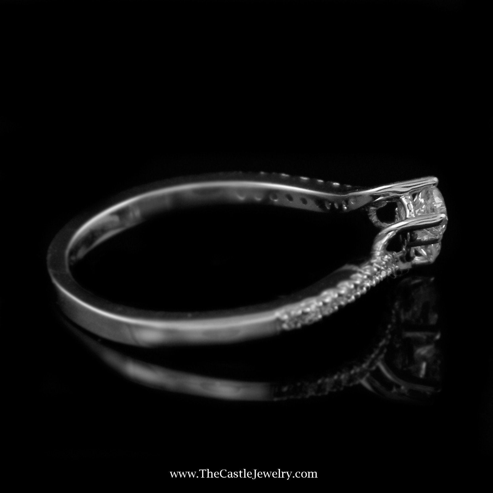 SPECIAL! Beautiful .50Cttw My True Love & My Best Friend Diamond Ring In 14K White Gold-2