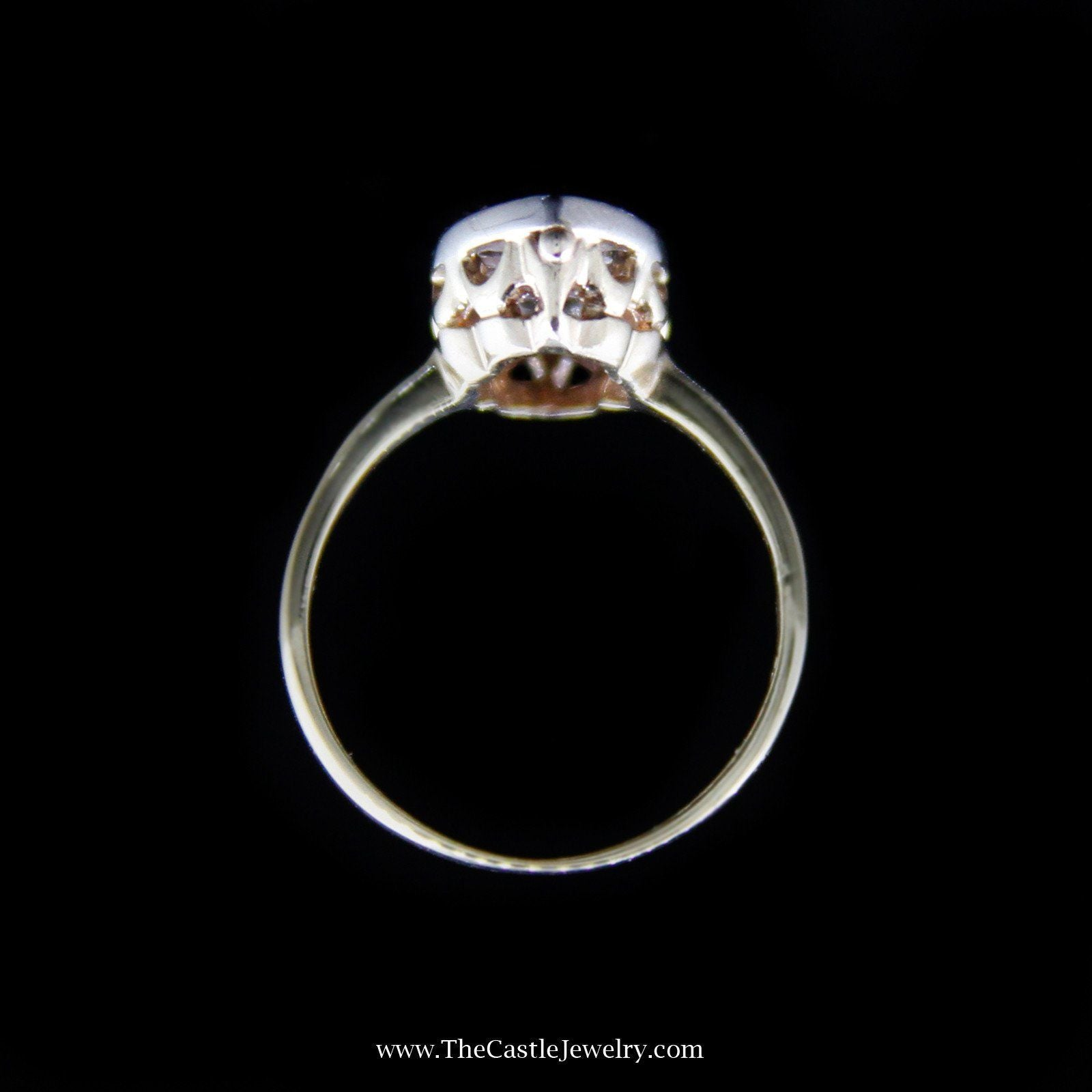 Charming Marquise Shaped Cluster Ring in Yellow Gold-1
