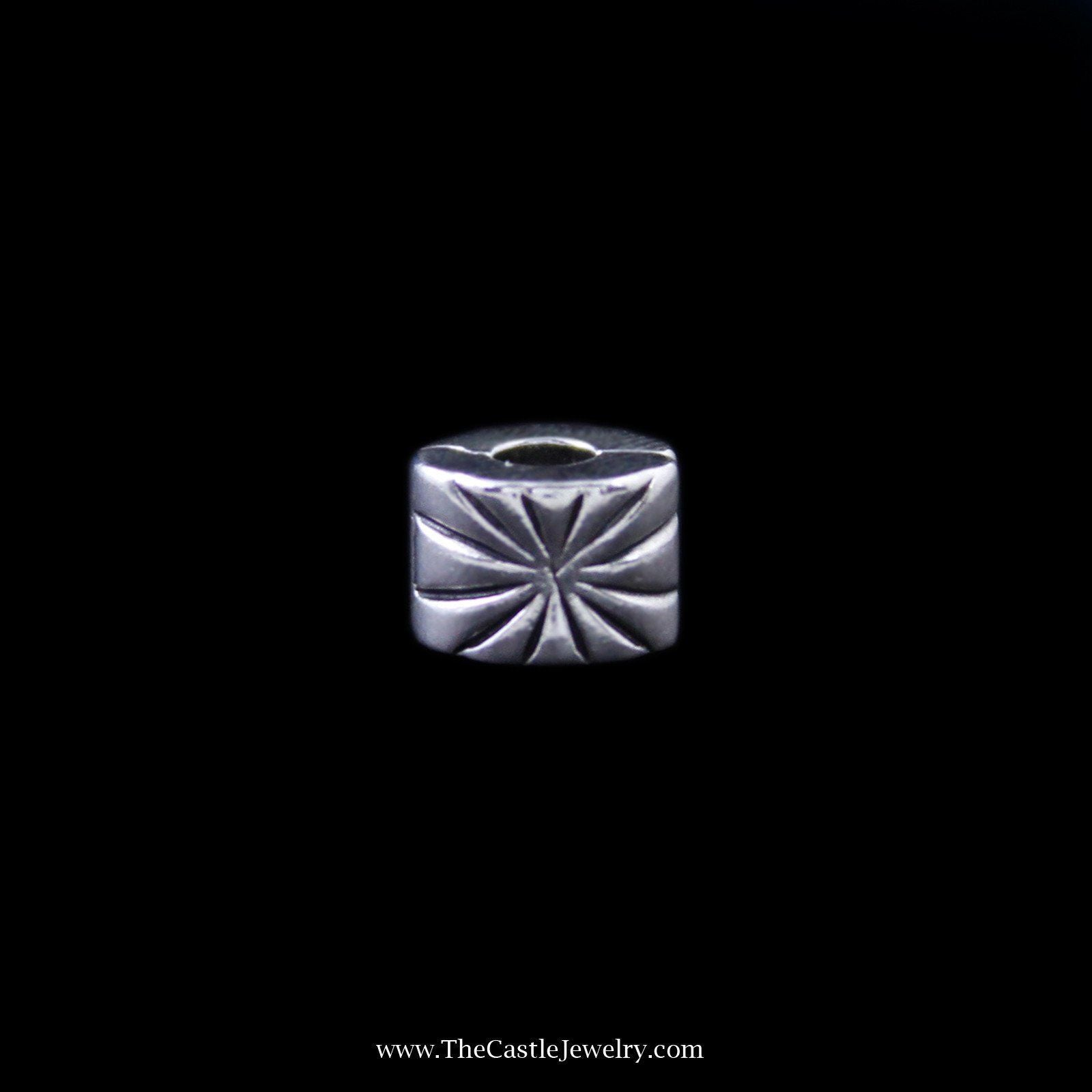 Pandora Sunburst Clip on Charm in Sterling Silver