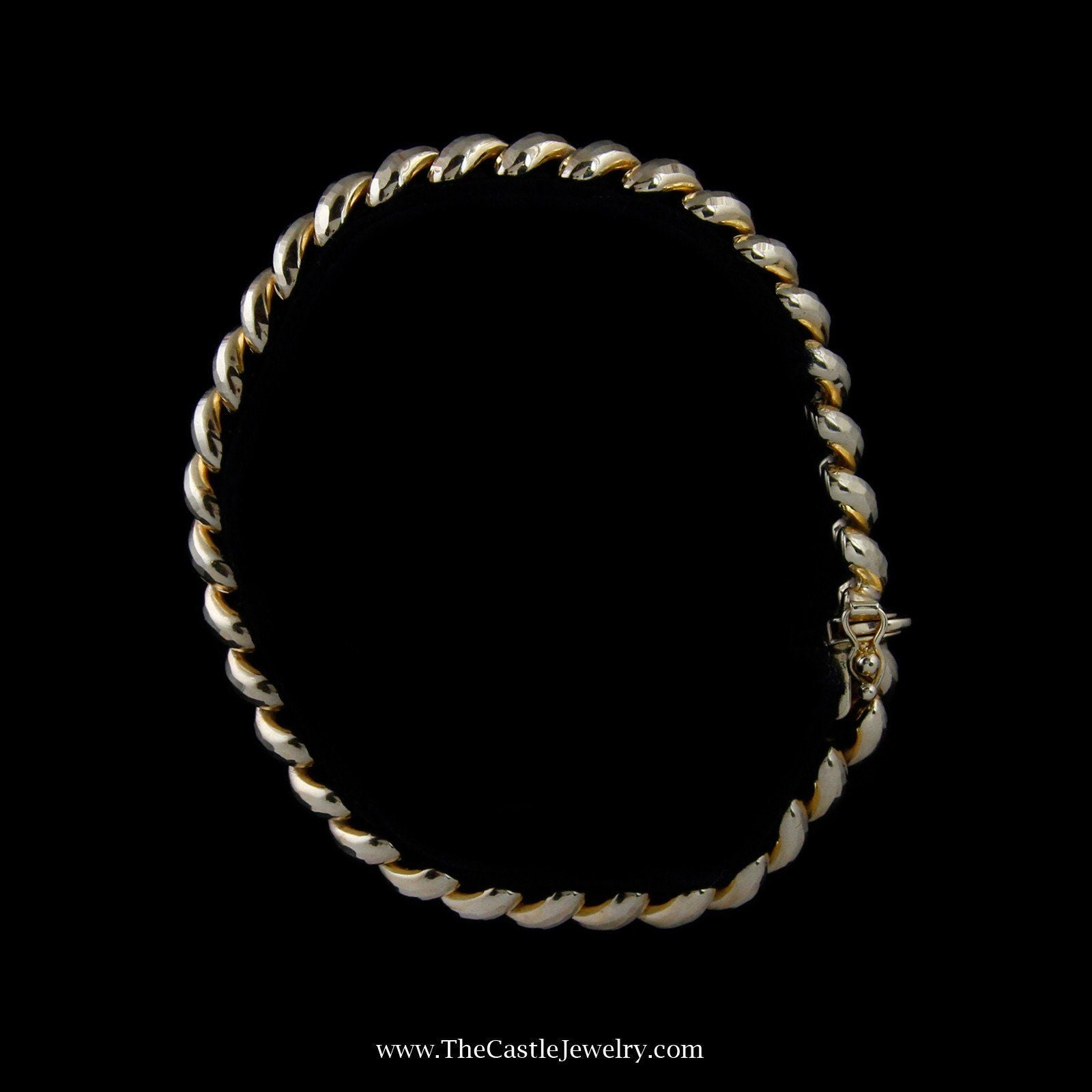 Beautiful San Marco Link Bracelet in Yellow Gold-3