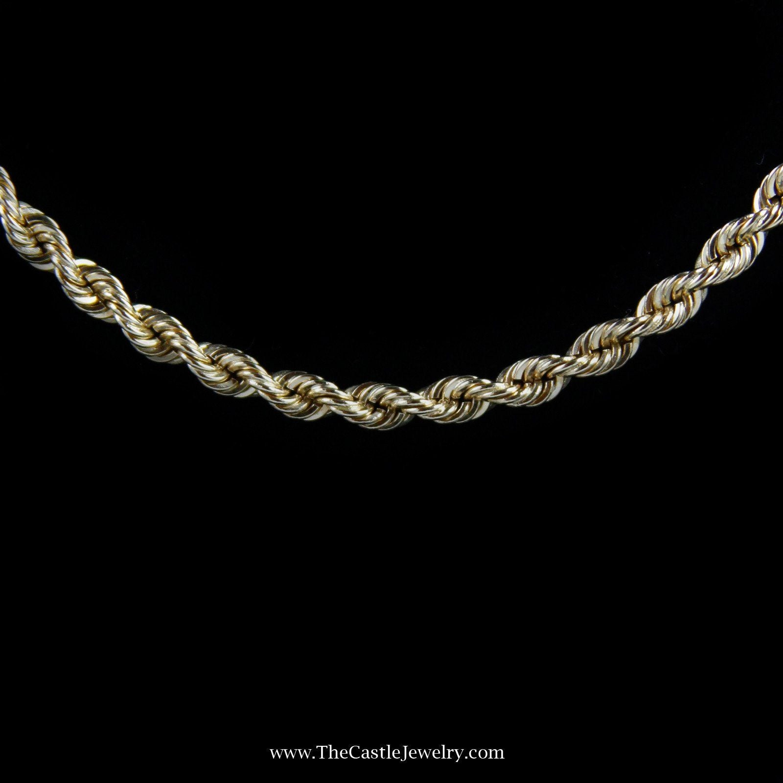 21″ Rope Chain w/ Box Clasp & Latch in Yellow Gold-1