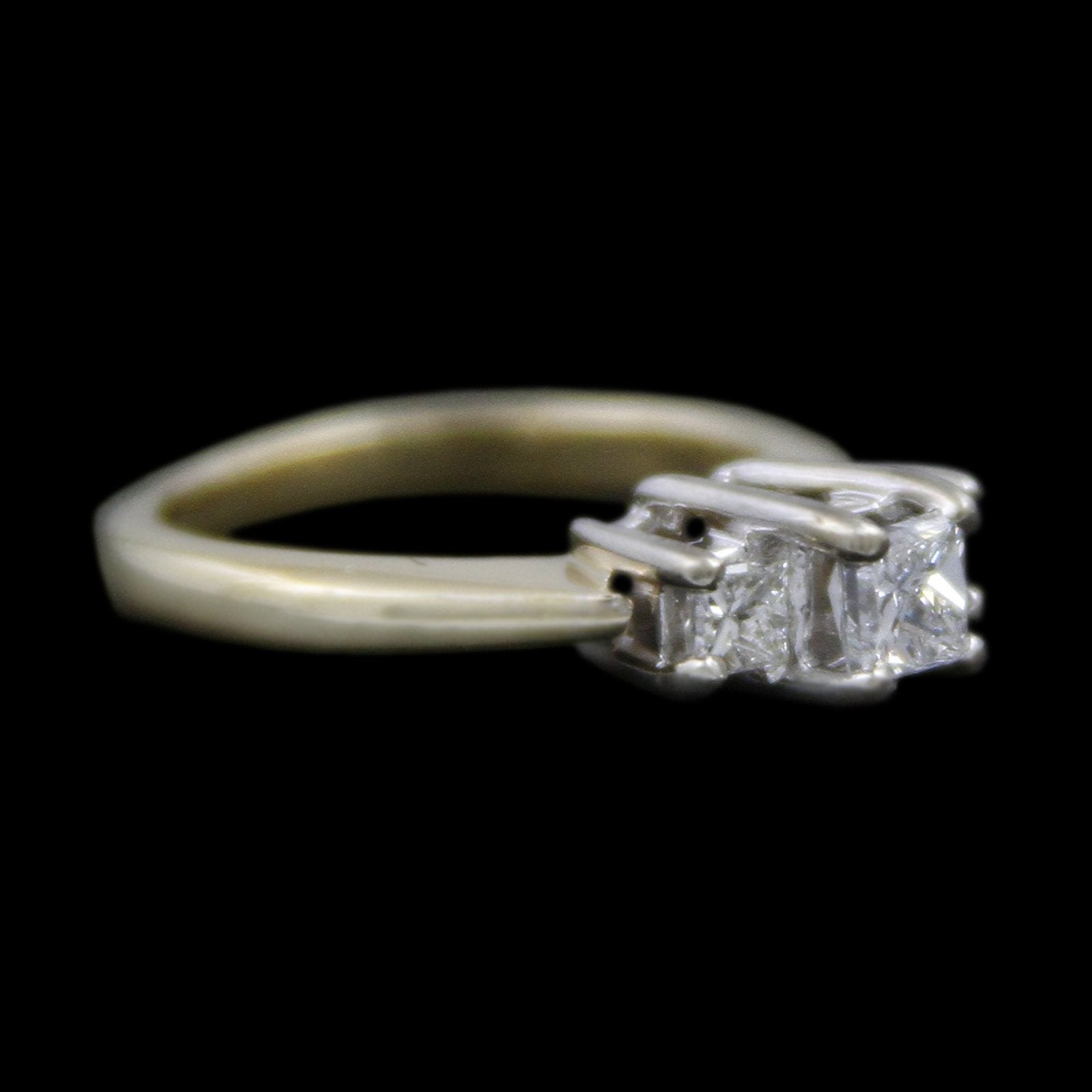 DeBeers Style Ring with .50cttw Princess Cut Diamonds Crafted in 14k Yellow Gold-2