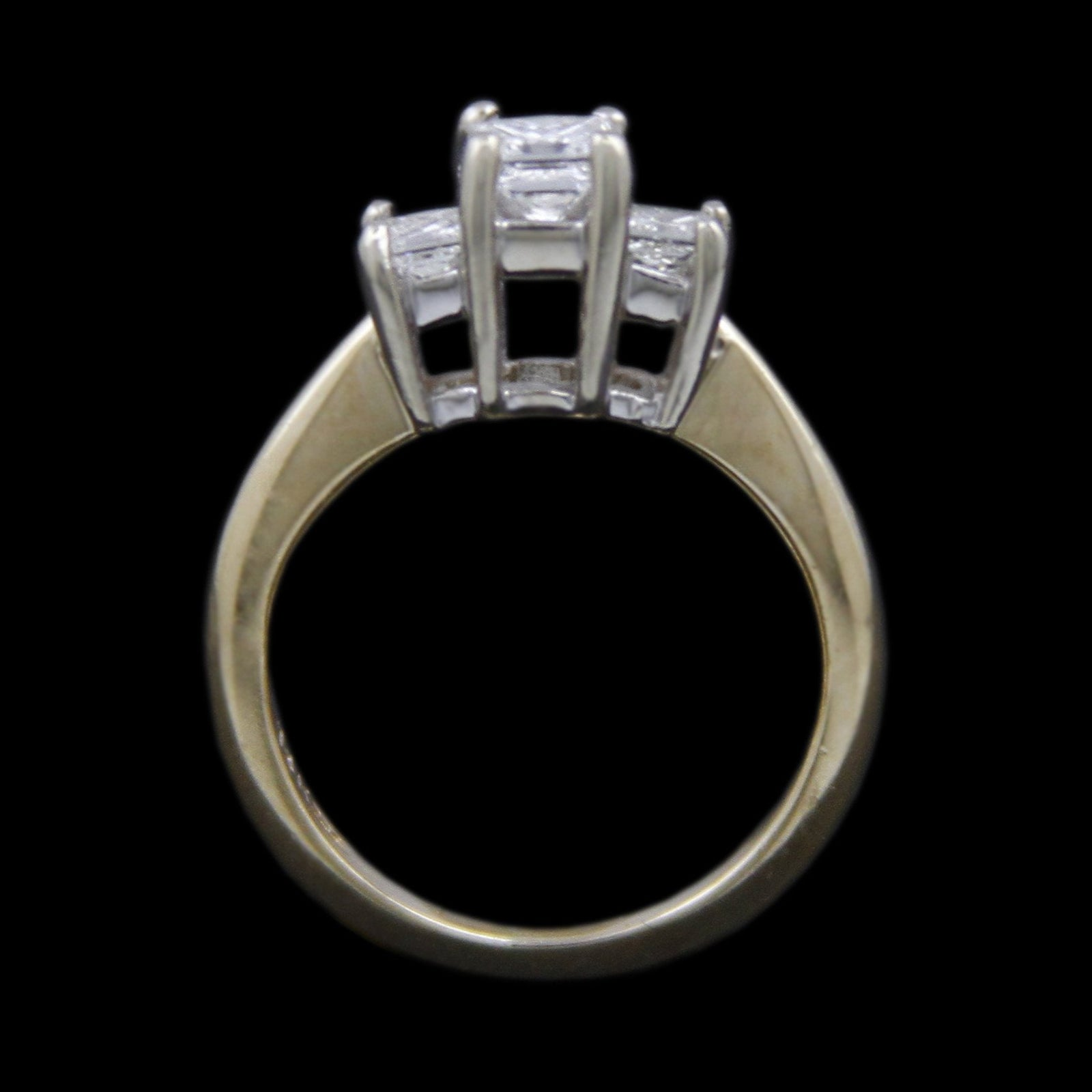 DeBeers Style Ring with .50cttw Princess Cut Diamonds Crafted in 14k Yellow Gold-1