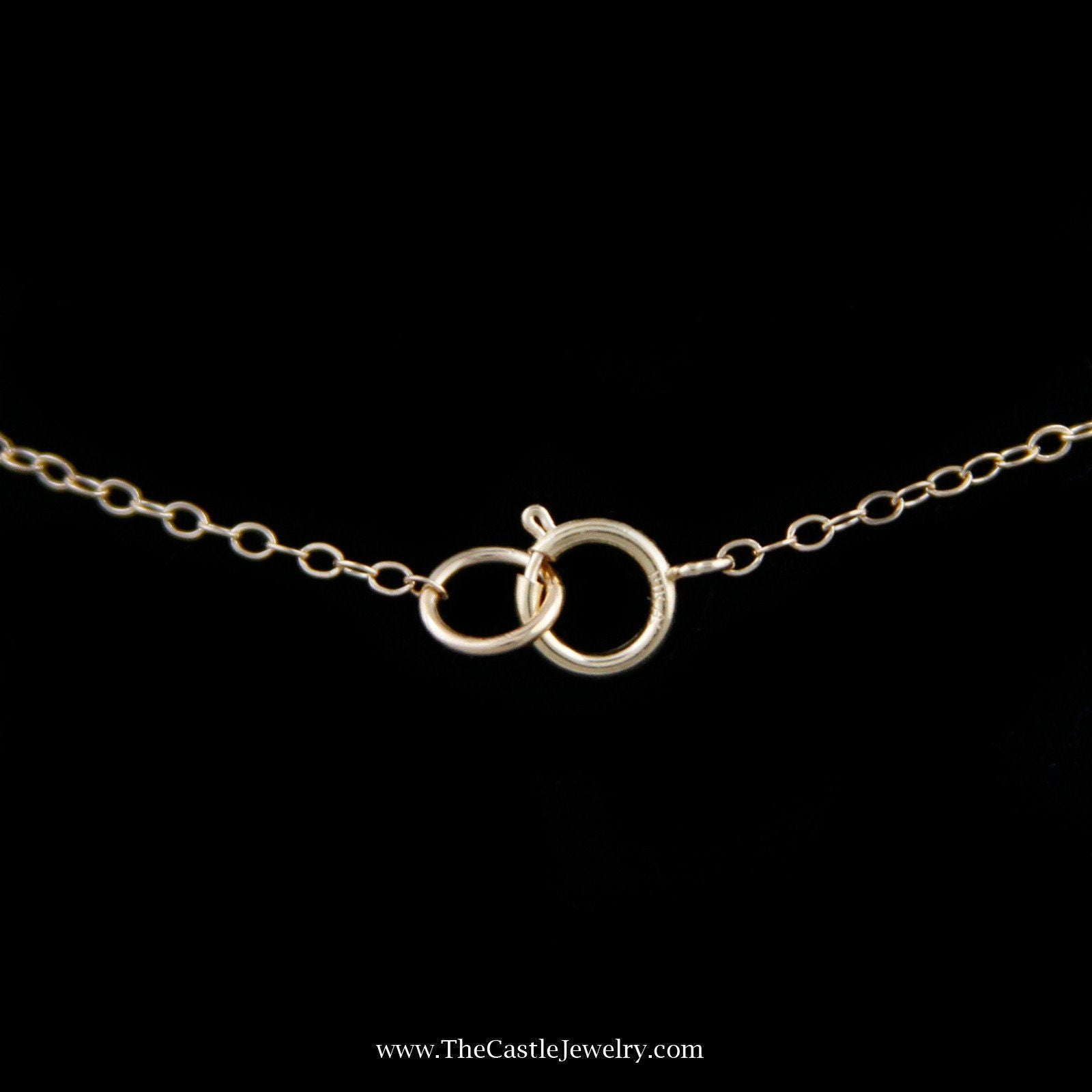 Freshwater Pearl & Cable Link Chain Adjustable Necklace Crafted in 14k Yellow Gold-1