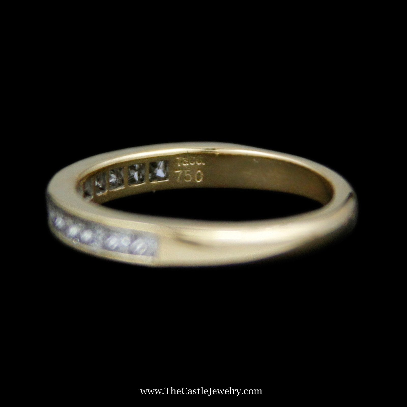 Tiffany & Co. Channel Set Princess Cut 1cttw Diamond Wedding Band Crafted in 18K Yellow Gold-3