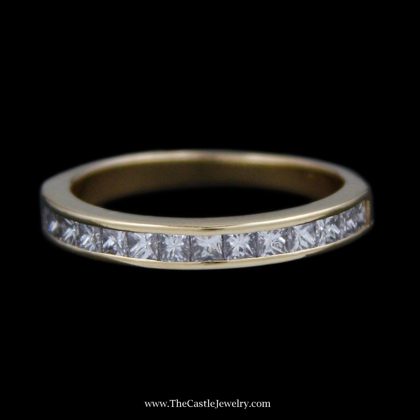 Tiffany & Co. Channel Set Princess Cut 1cttw Diamond Wedding Band Crafted in 18K Yellow Gold