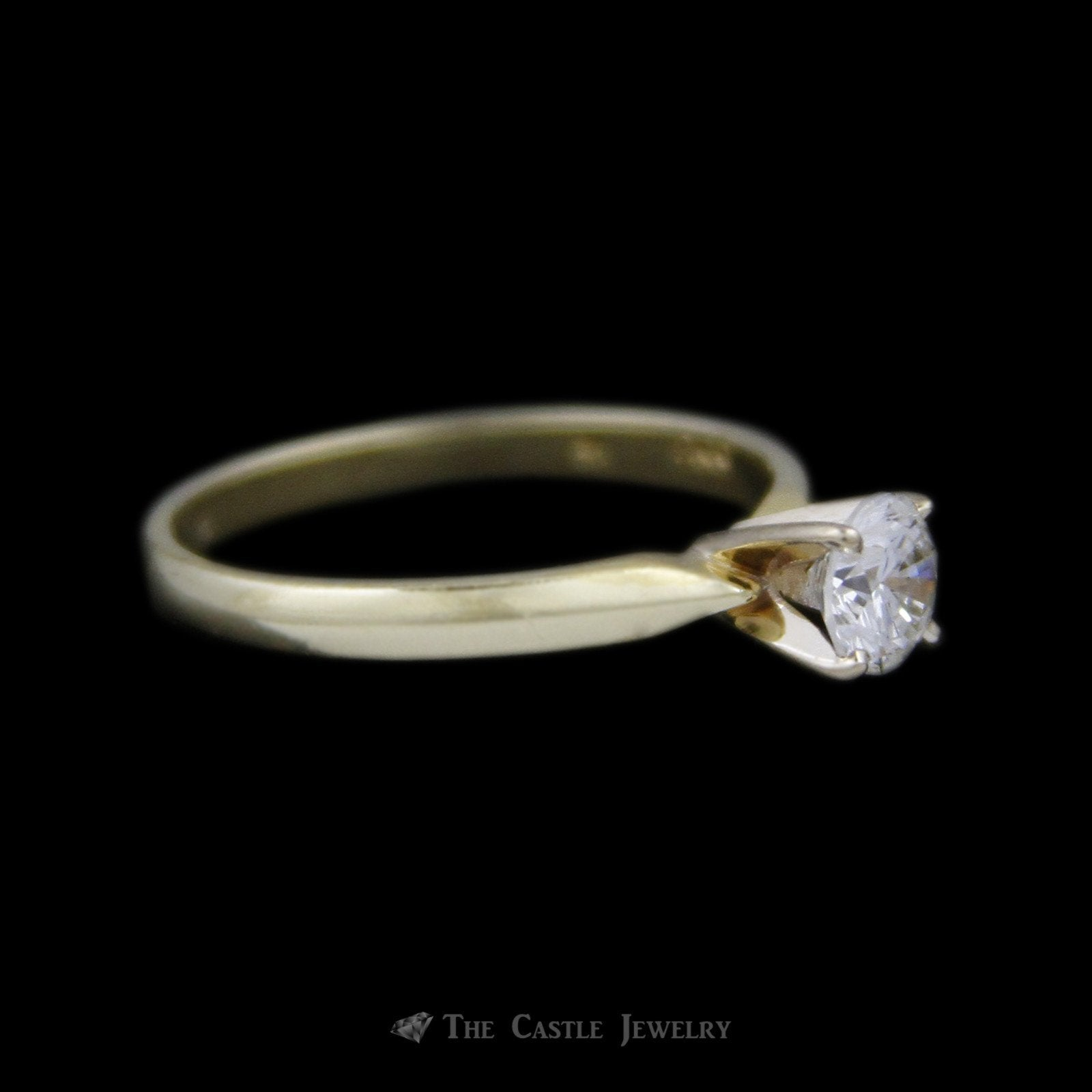 Round Brilliant Cut ½ Carat Diamond Engagement Ring SI1 G/H in 18K Yellow Gold-2