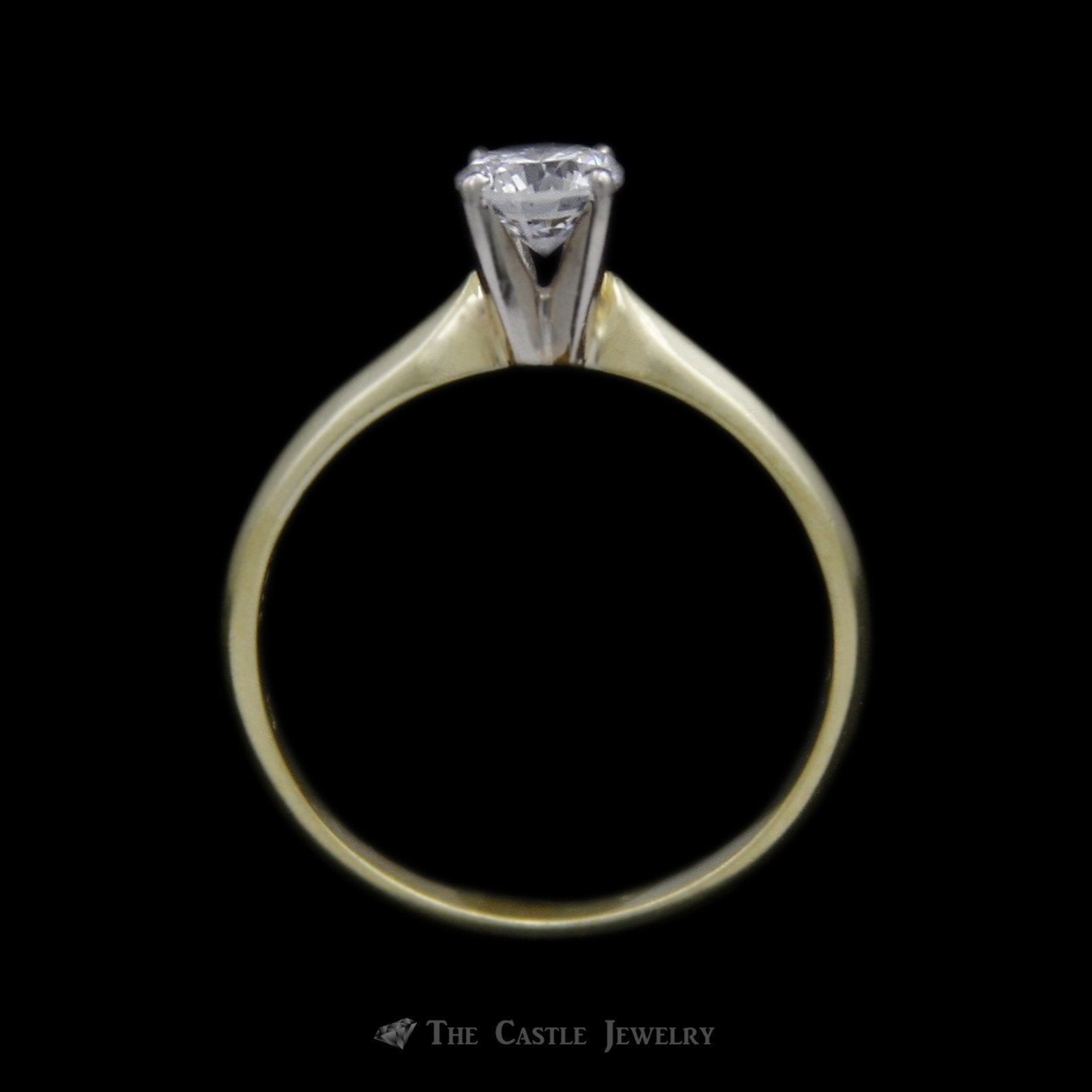 Round Brilliant Cut ½ Carat Diamond Engagement Ring SI1 G/H in 18K Yellow Gold-1