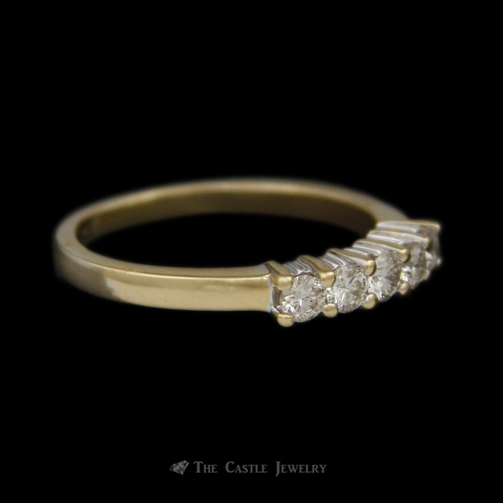 Prong Set 5 Diamond .35cttw Anniversary Band in 14K Yellow Gold-2