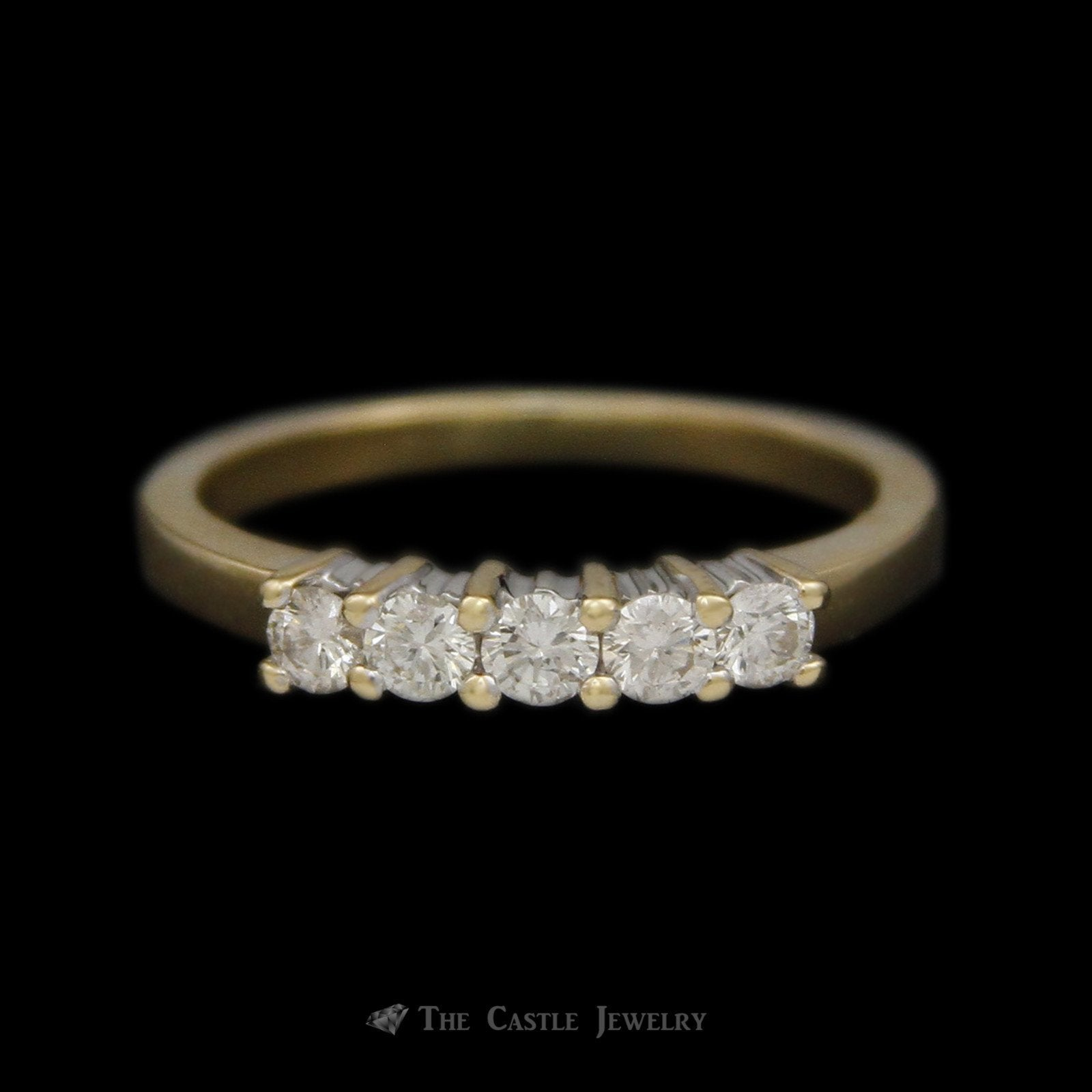 Prong Set 5 Diamond .35cttw Anniversary Band in 14K Yellow Gold
