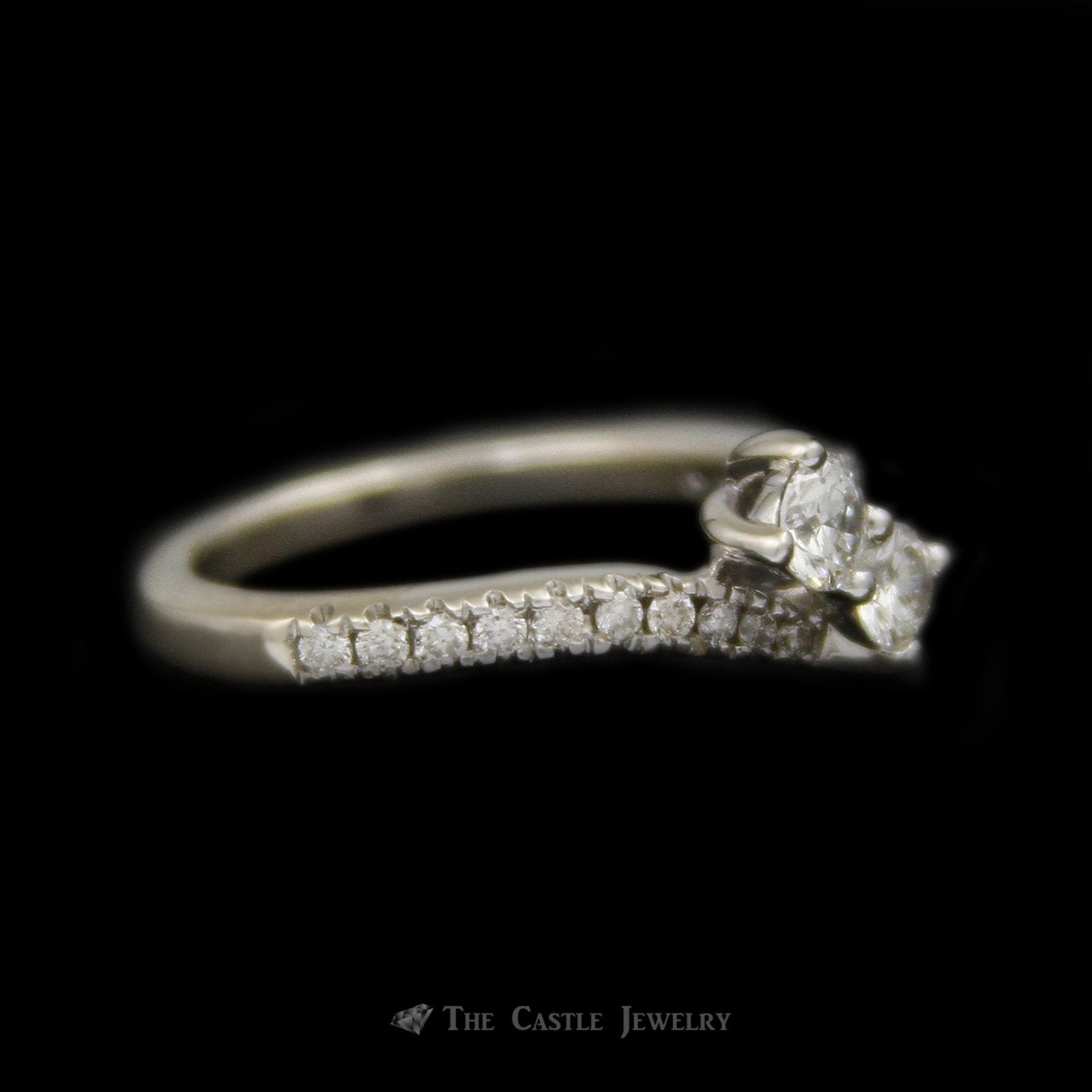Ever Us .50cttw 2 Round Brilliant Cut Diamond Bypass Ring in 14K White Gold