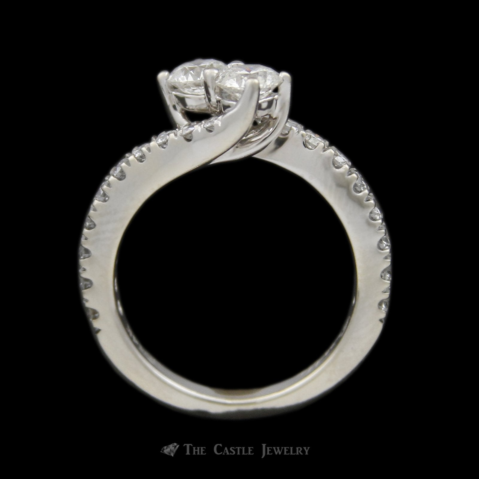 Ever Us 1.50cttw 2 Round Brilliant Cut Diamond Bypass Ring in 14K White Gold-1