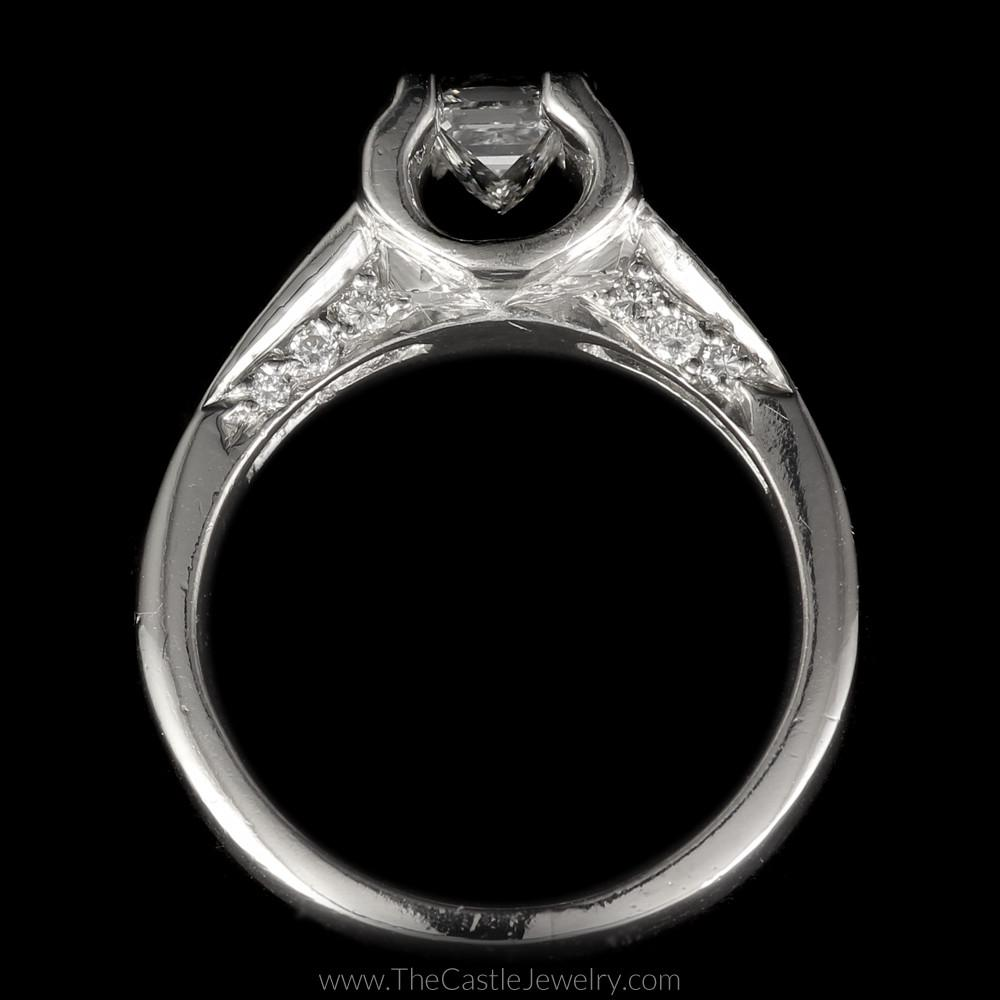 Princess Cut Diamond Engagement Ring 1cttw with Princess & Round Diamond Accents-1