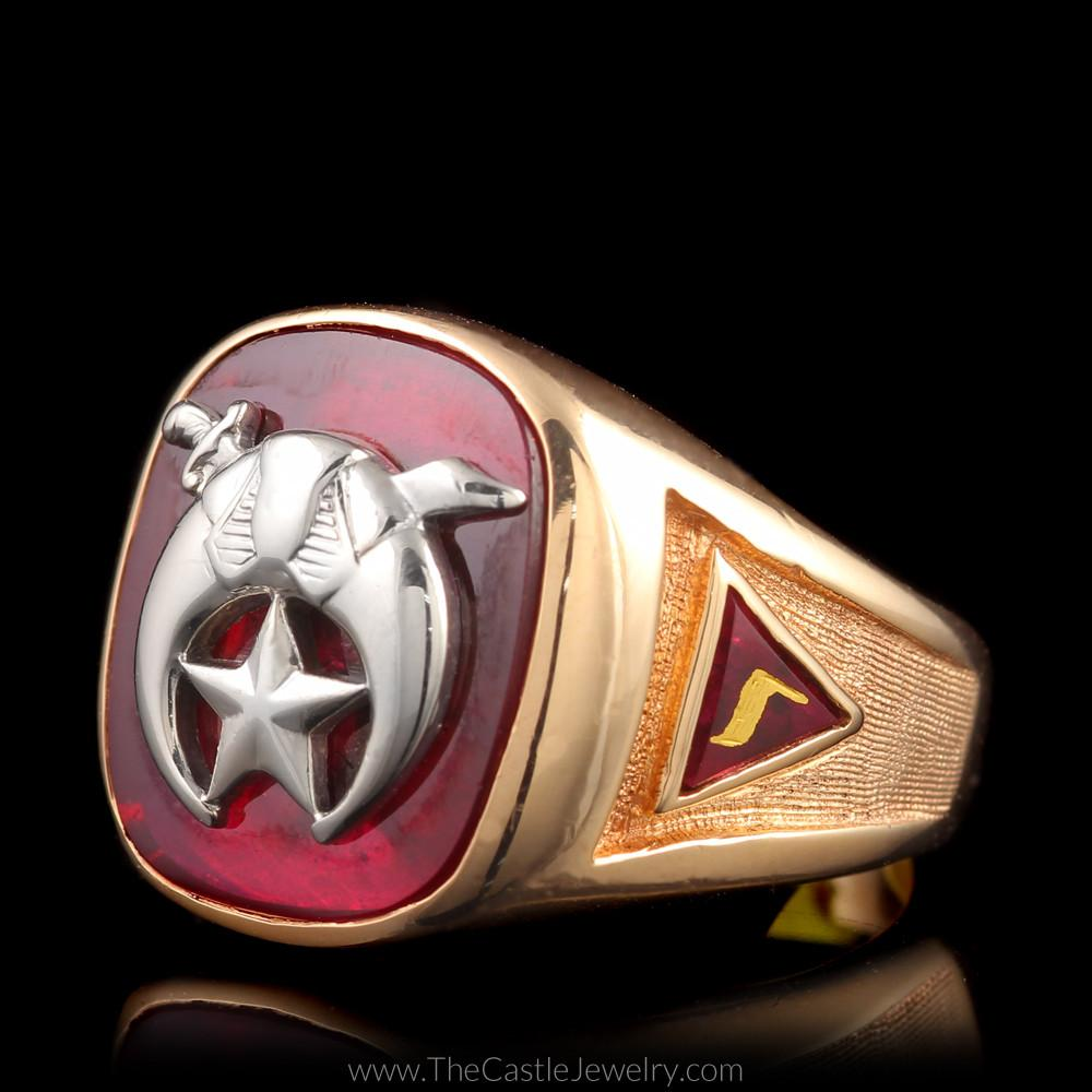 Mystic Shrine Scimitar Crescent Masonic Ring YOD 14th Degree 32nd Sublime Prince-1