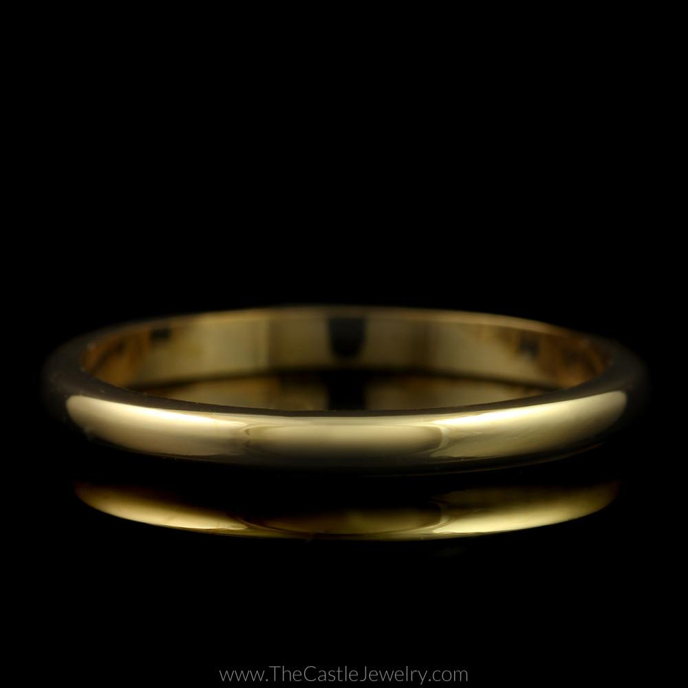 Polished Wedding Band 2mm Wide Size 6.75 in 14K Yellow Gold
