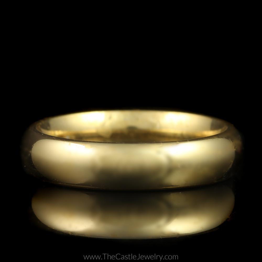 Polished Comfort Fit Wedding Band 4.25mm in 14K Yellow Gold
