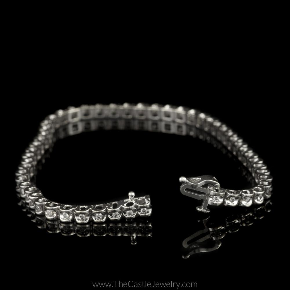 Diamond Illusion 1/2cttw Tennis Bracelet in 14K White Gold-1