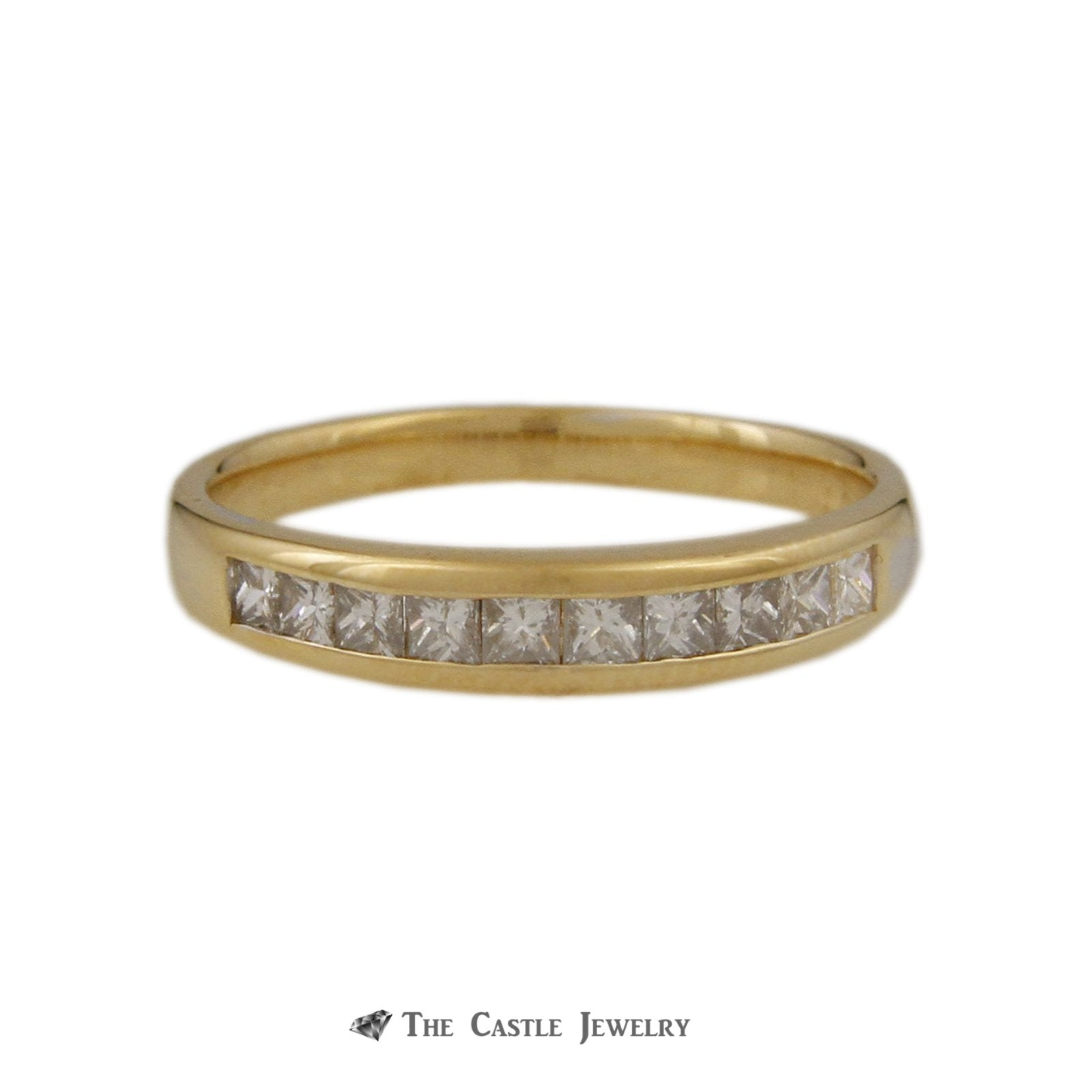 Tiffany & Co. .75cttw Channel Set Princess Cut Diamond Wedding Band