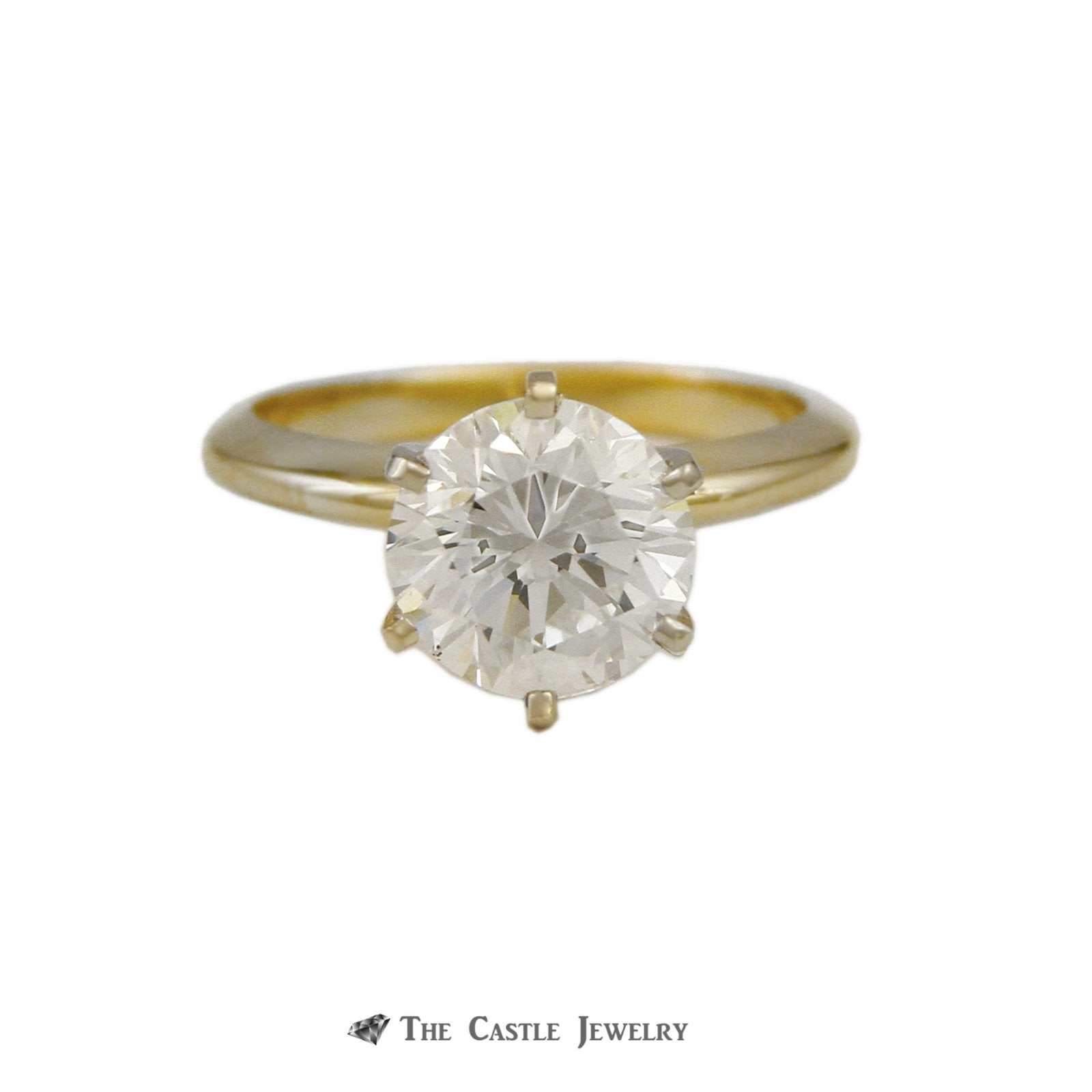 GIA Certified 3.03 carat SI1-G Round Brilliant Cut Solitaire Engagement Ring