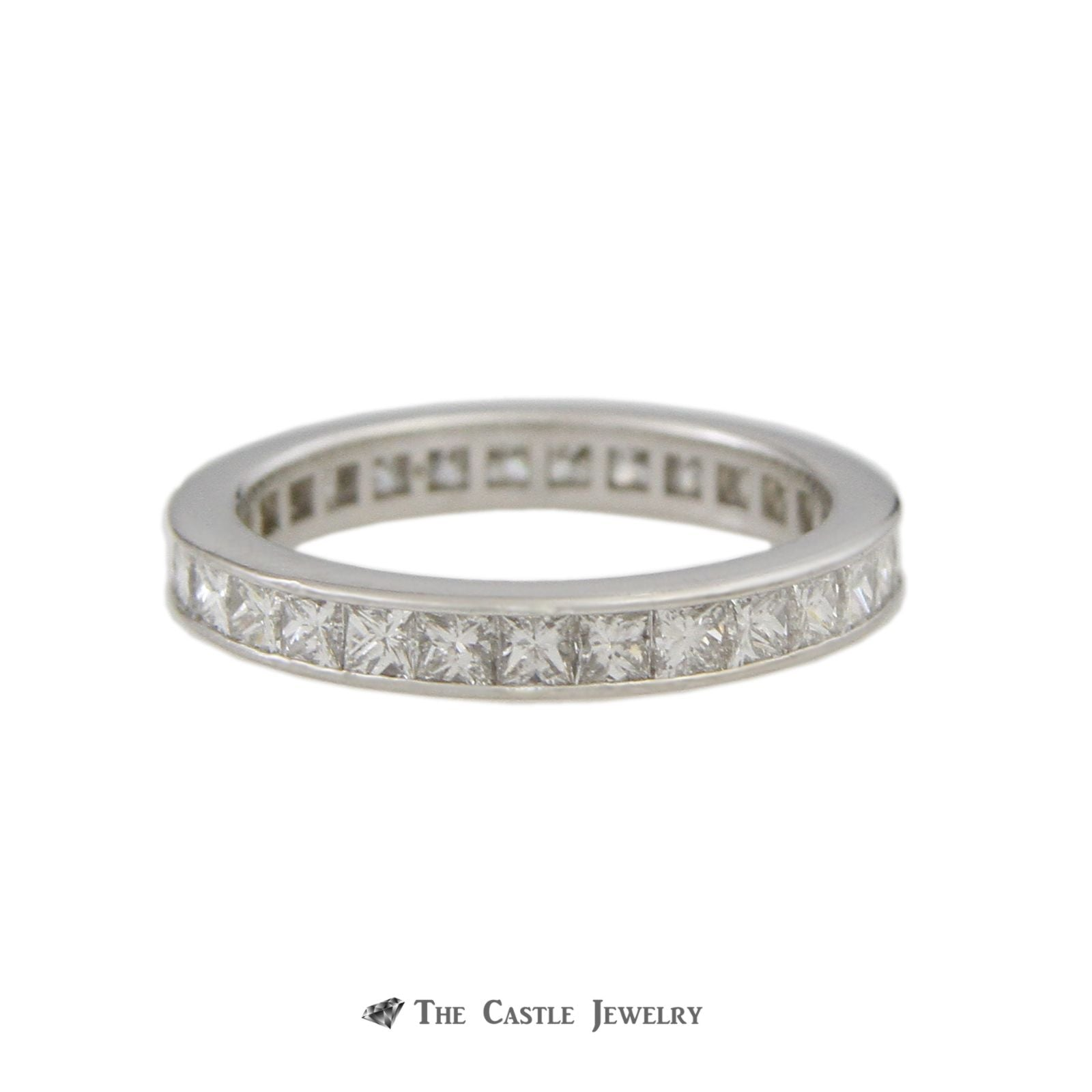 Platinum Eternity Band 2cttw Princess Cut Diamonds