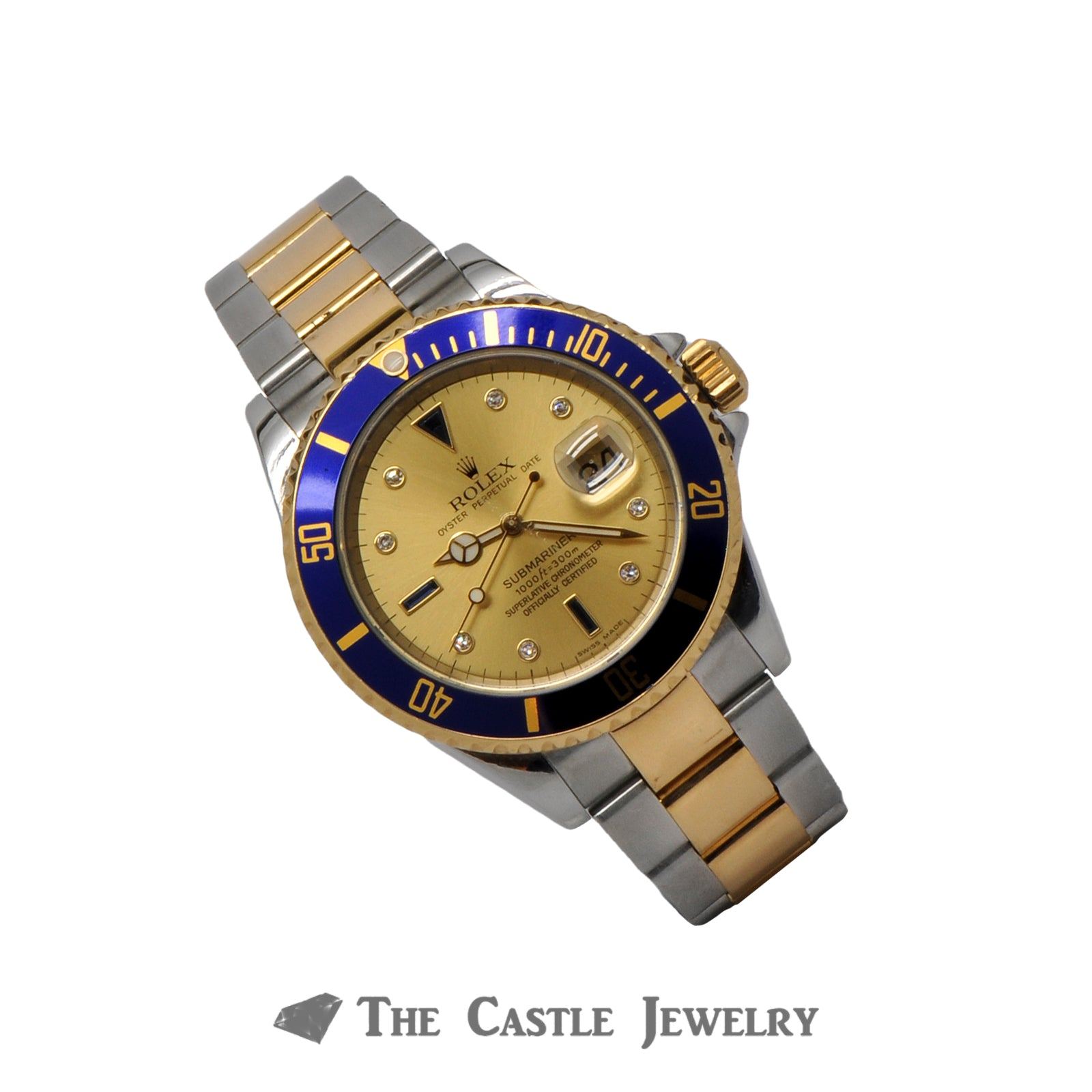 Rolex Submariner 16613 with Factory Serti Dial in Excellent Condition-2