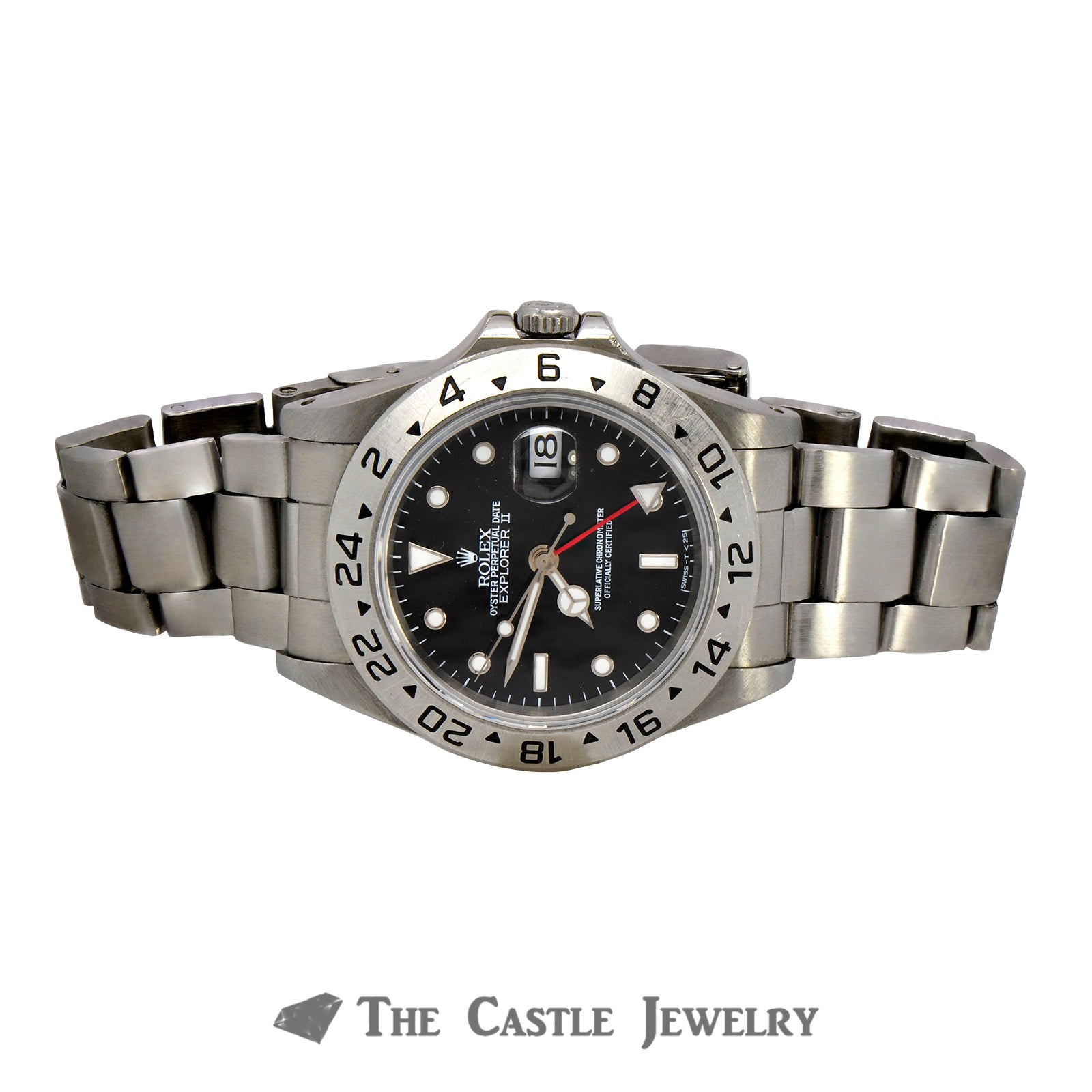 Men's Stainless Steel Rolex Explorer II with Black Dial & Oyster Bracelet-5