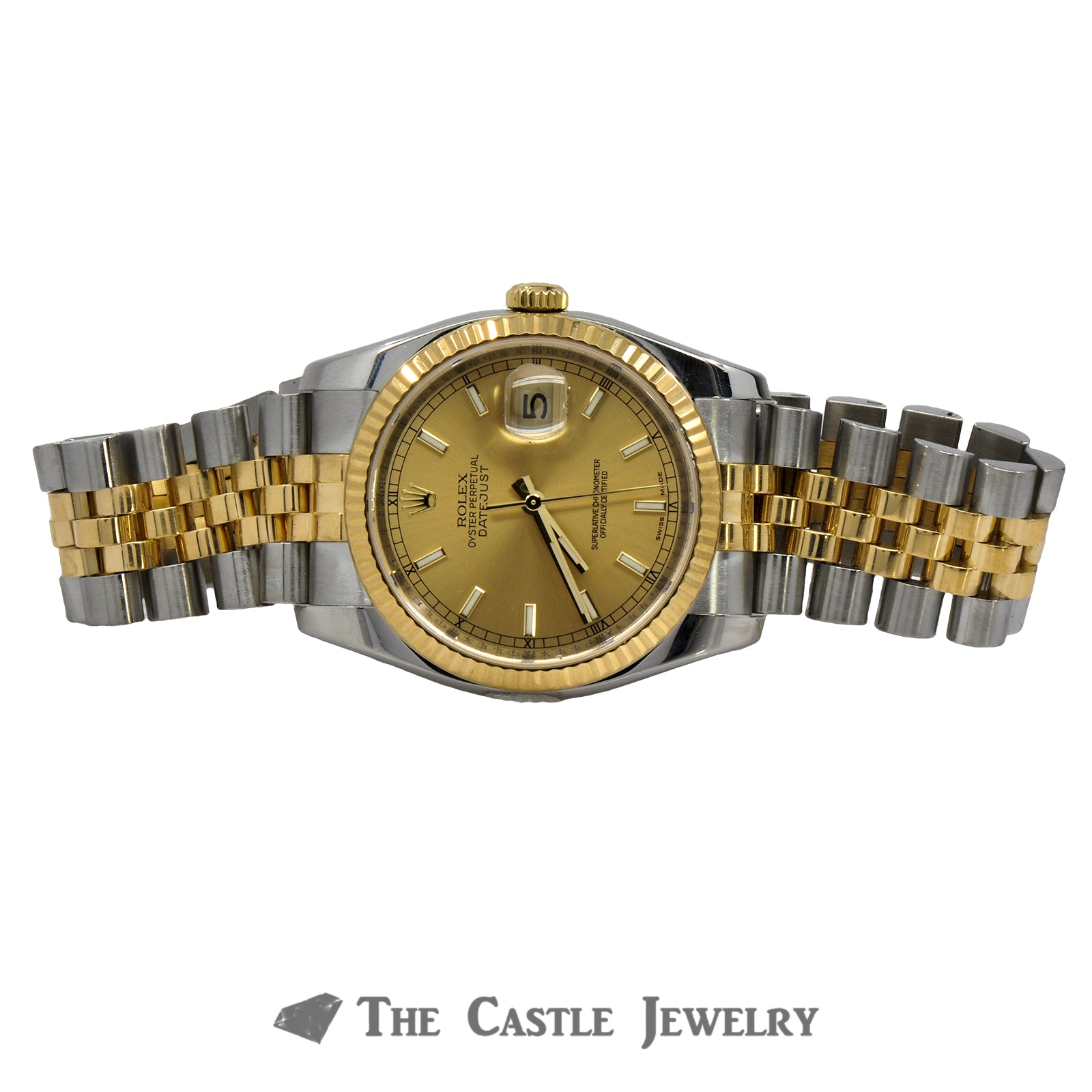 Rolex Datejust 116233 With Champagne Dial and Fluted Bezel-4