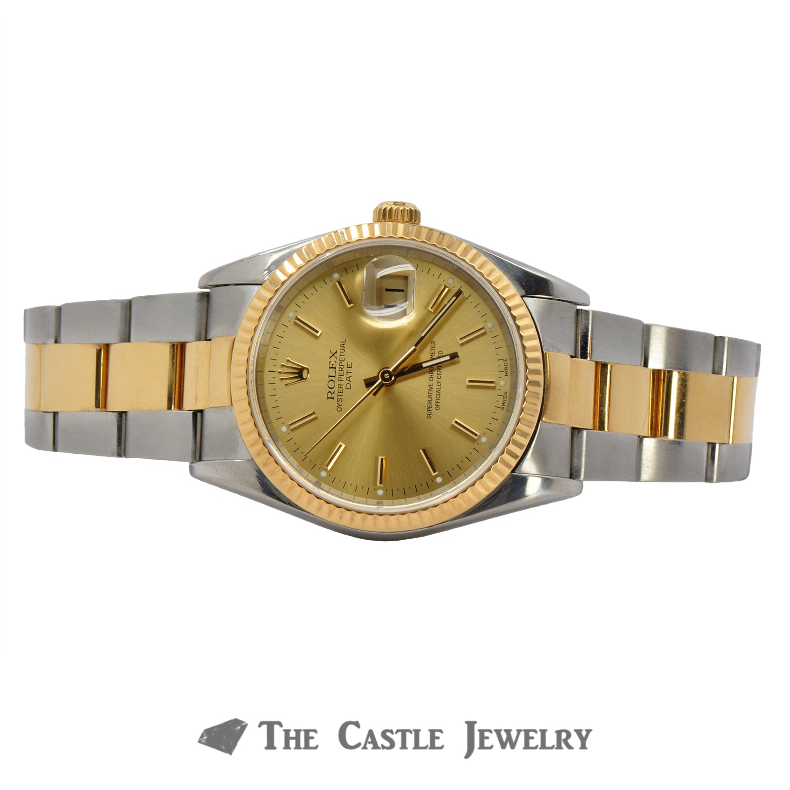 Rolex Date Model 15203 | 18K & Steel Oyster Bracelet | 2 Year Warranty-4
